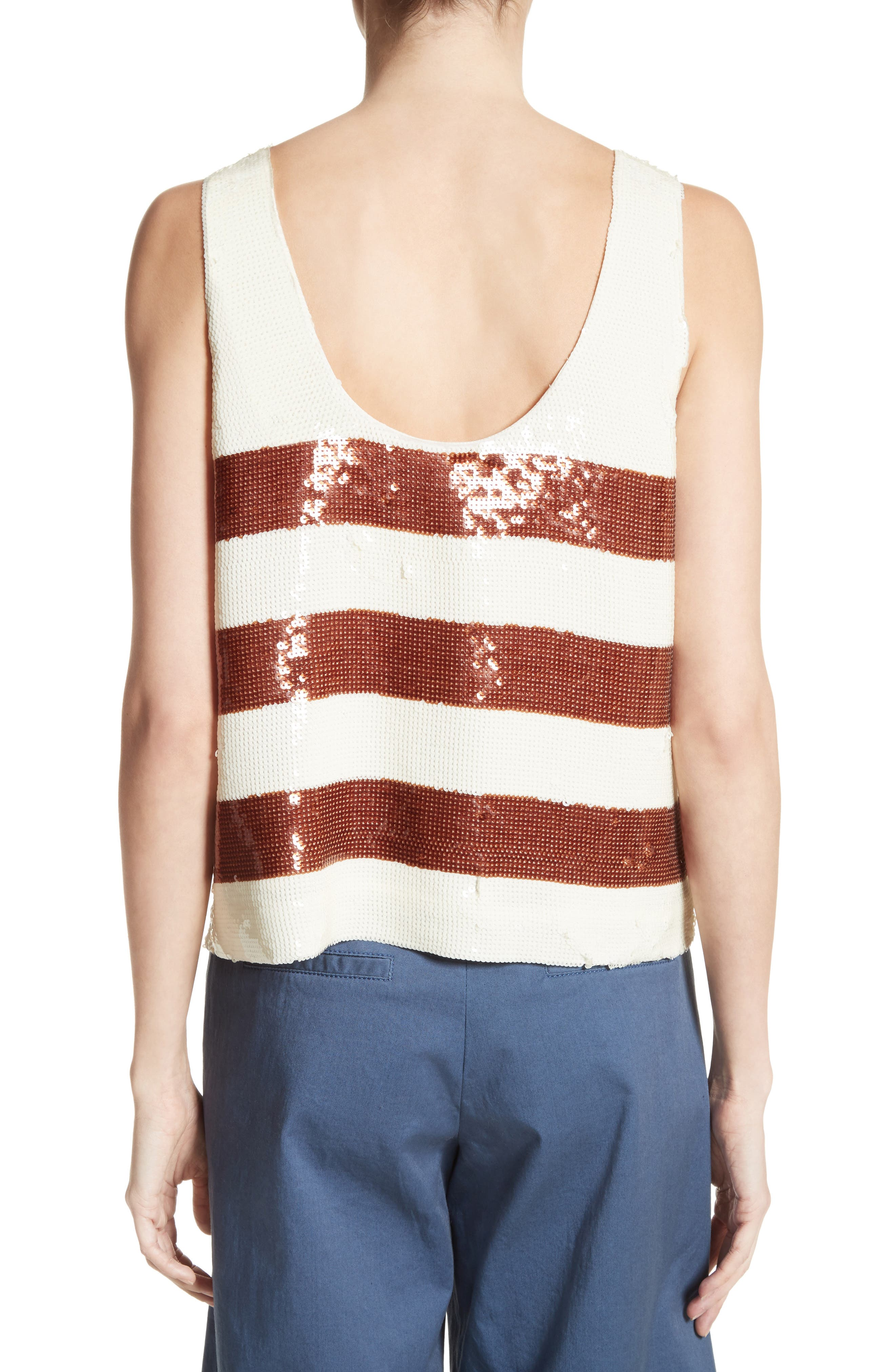 Marigold Sequin Tank,                             Alternate thumbnail 3, color,                             Bronze/ Ivory