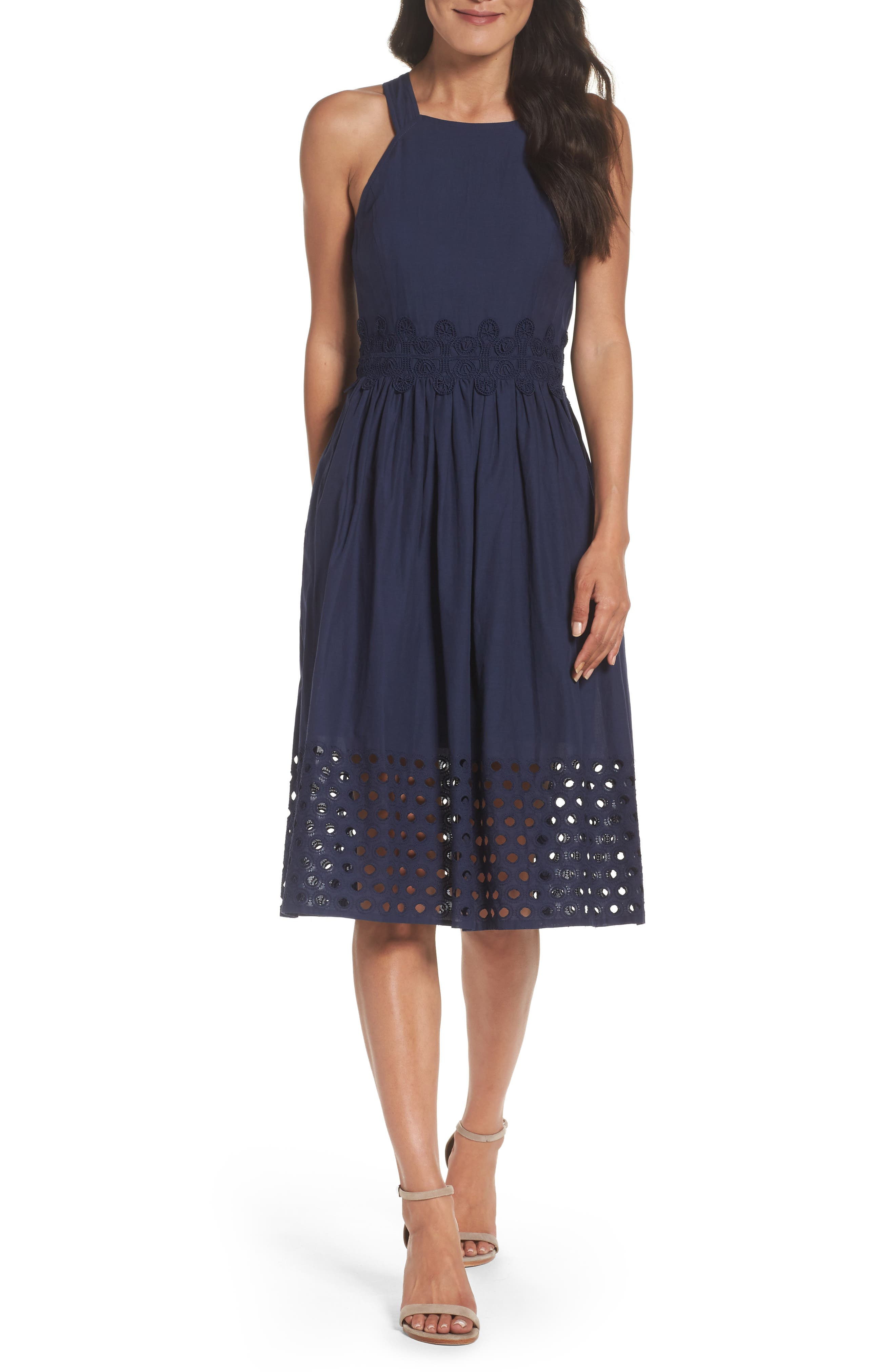 Vince Camuto Fit & Flare Midi Dress