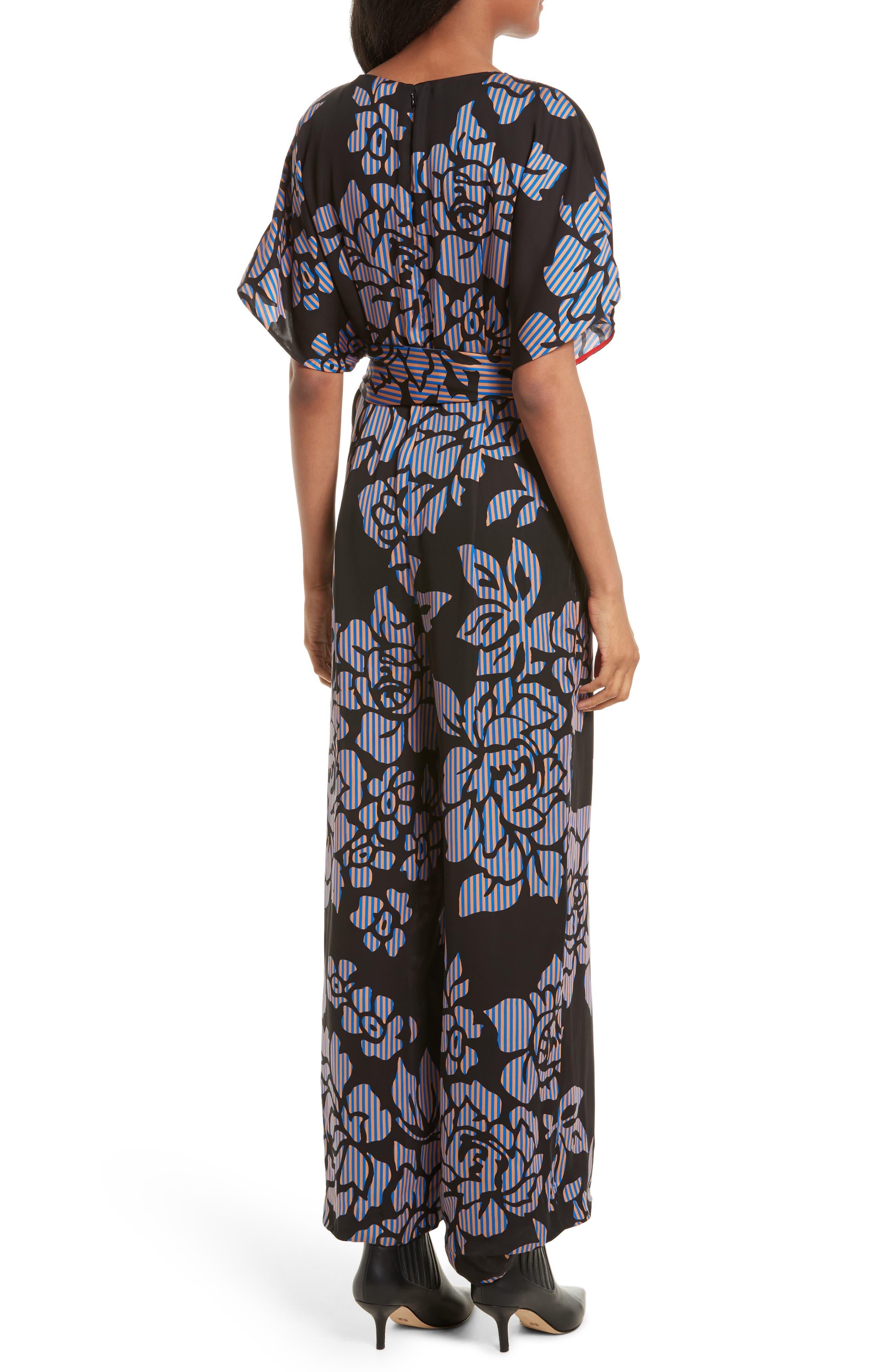 Alternate Image 2  - Diane von Furstenberg Tie Front Print Jumpsuit
