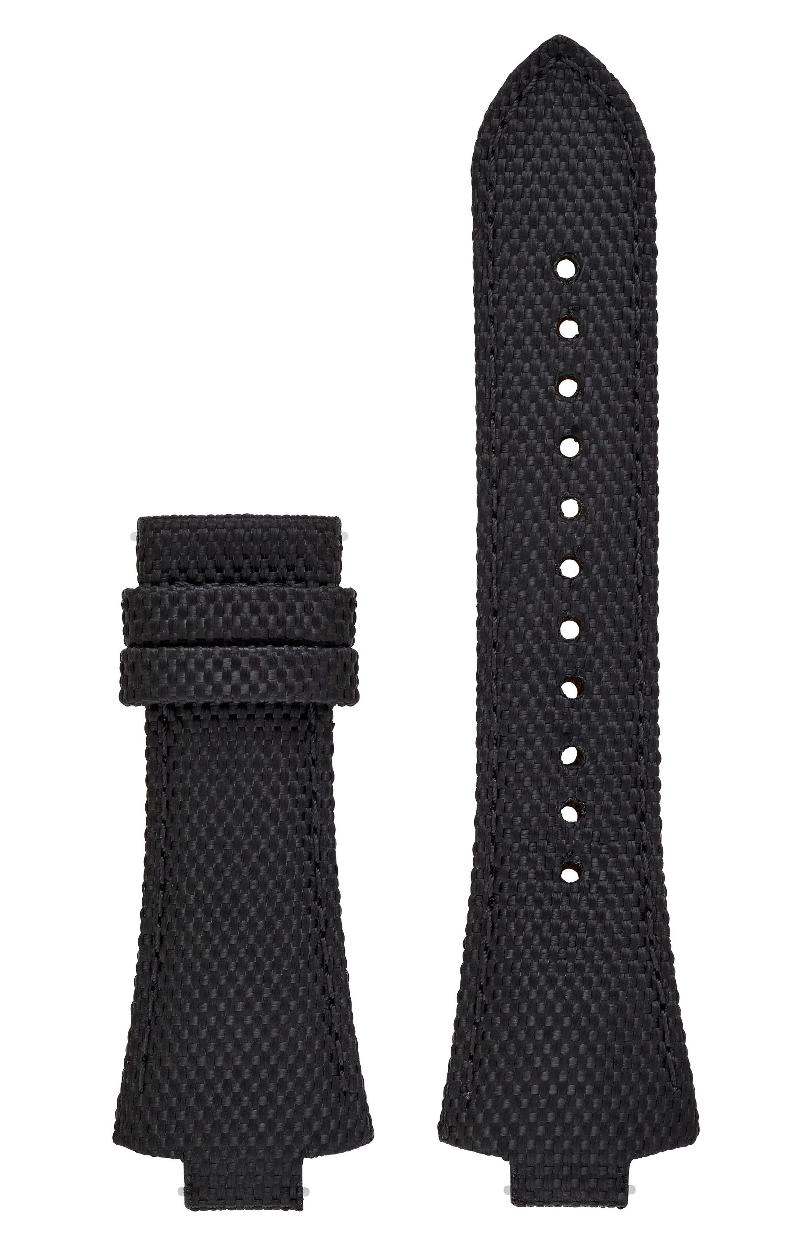 Dylan Interchangeable Leather Strap,                             Main thumbnail 1, color,                             Black