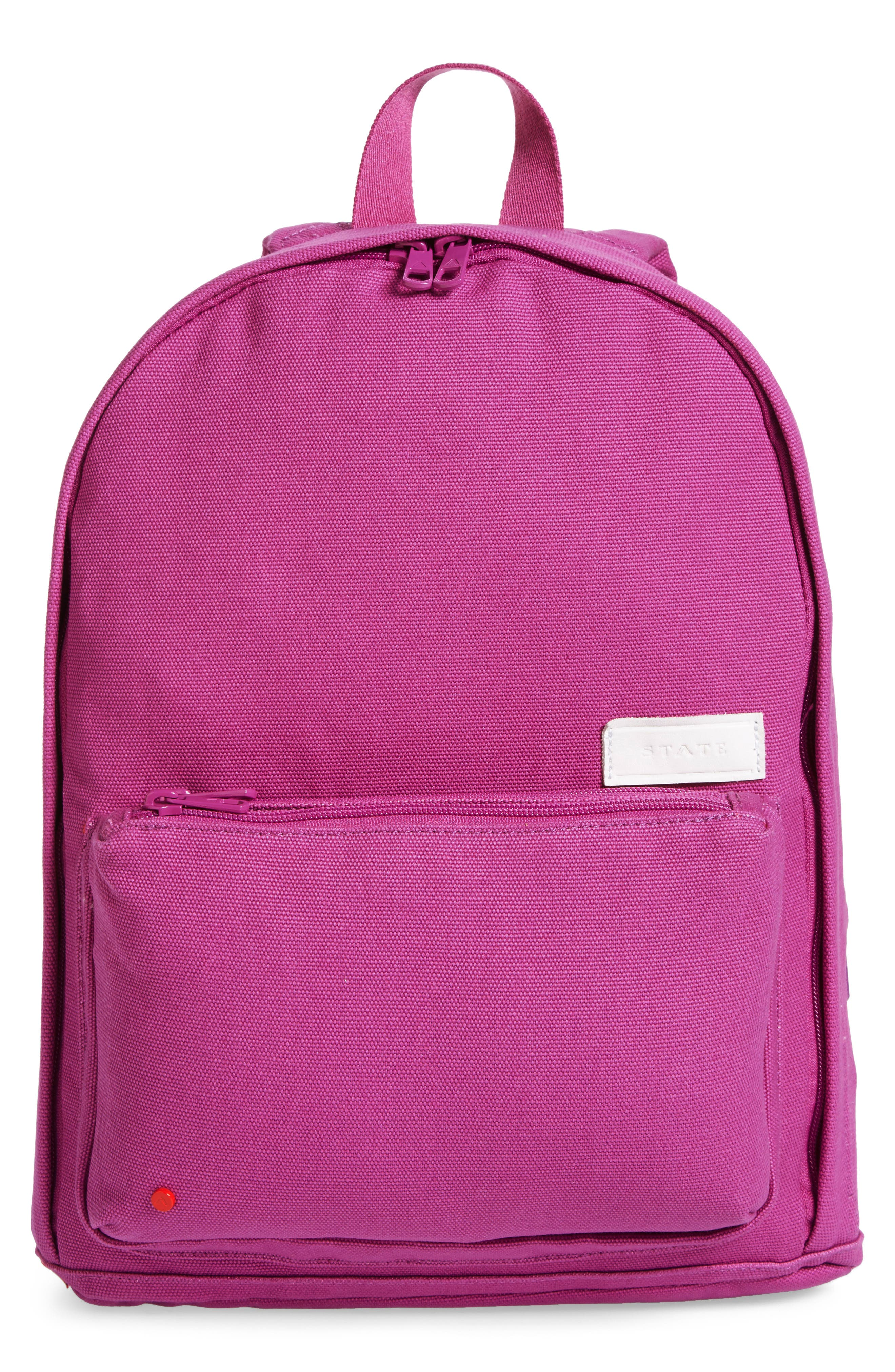 STATE Bags Slim Lorimer Water Resistant Canvas Backpack