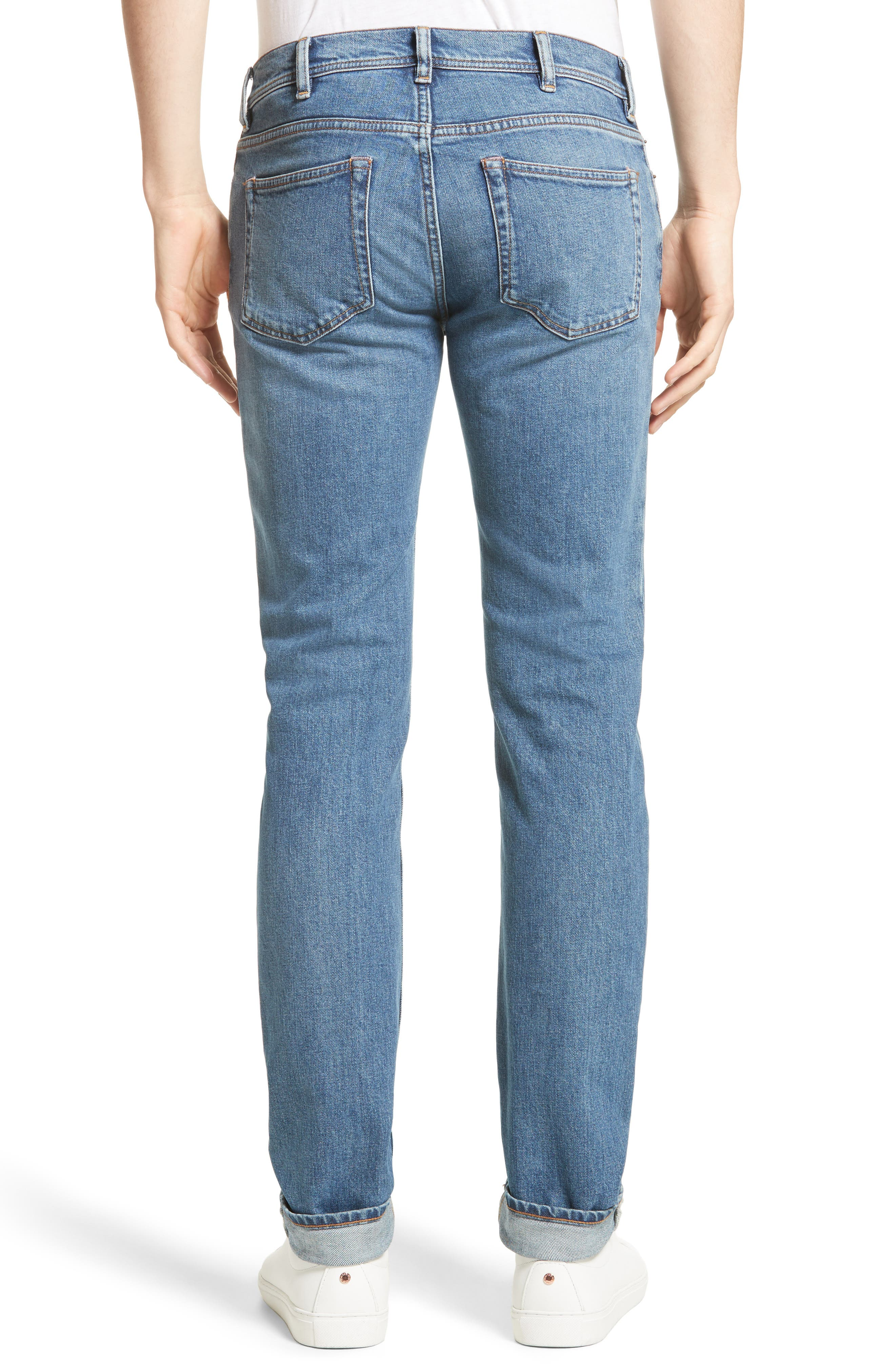 North Skinny Jeans,                             Alternate thumbnail 2, color,                             Mid Blue