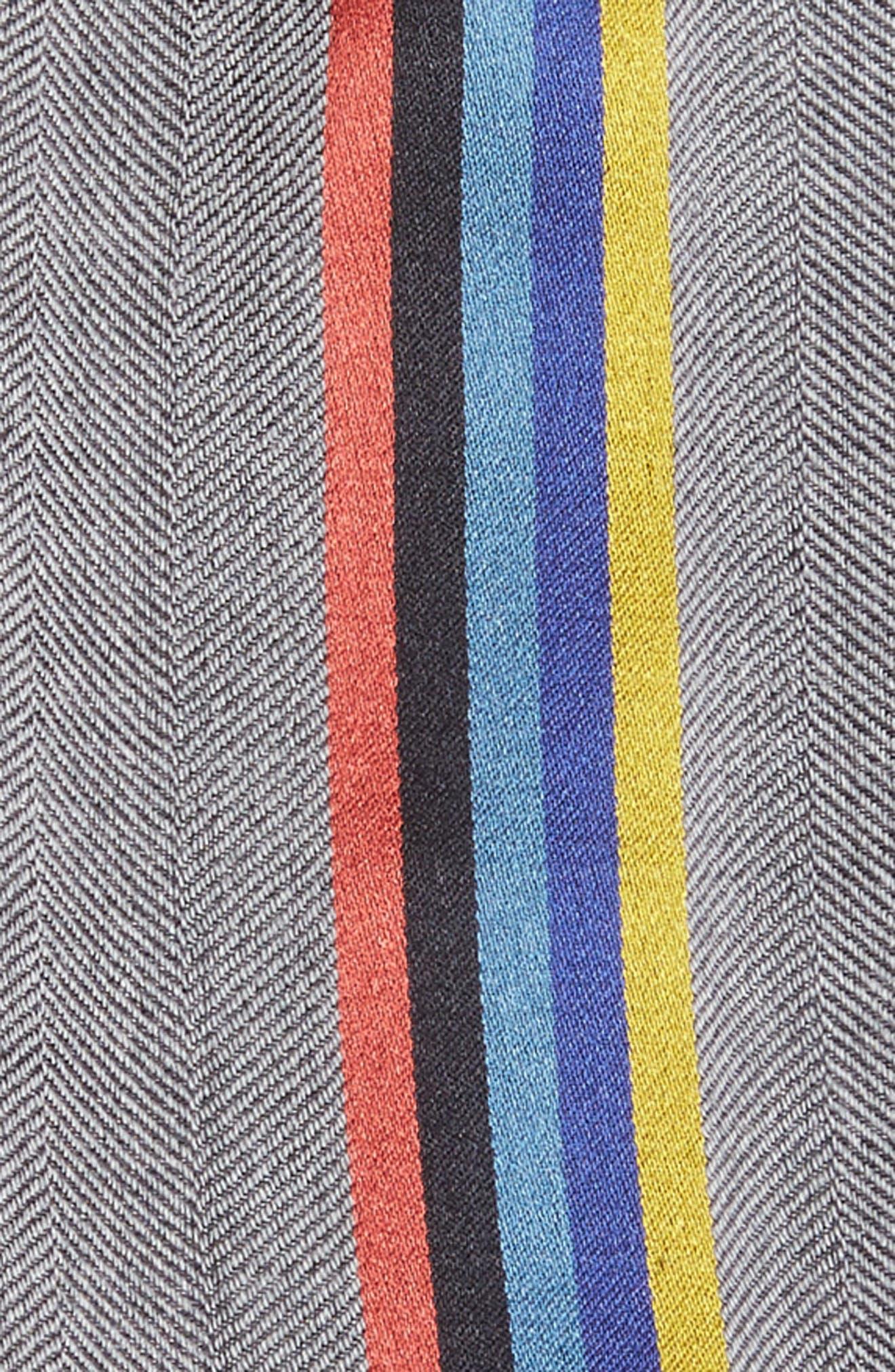 Alternate Image 3  - Paul Smith Central Stripe Wool & Silk Scarf