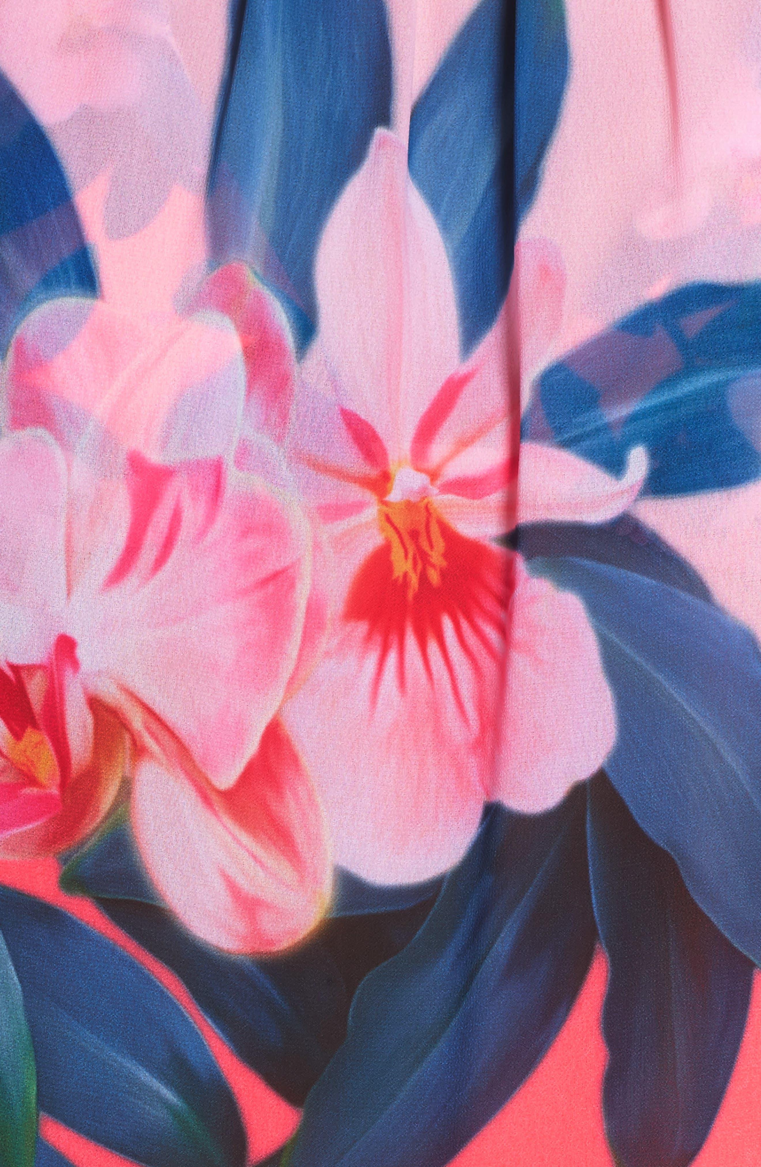 Alternate Image 5  - Ted Baker London Orchid Wonderland Cover-Up Maxi Dress
