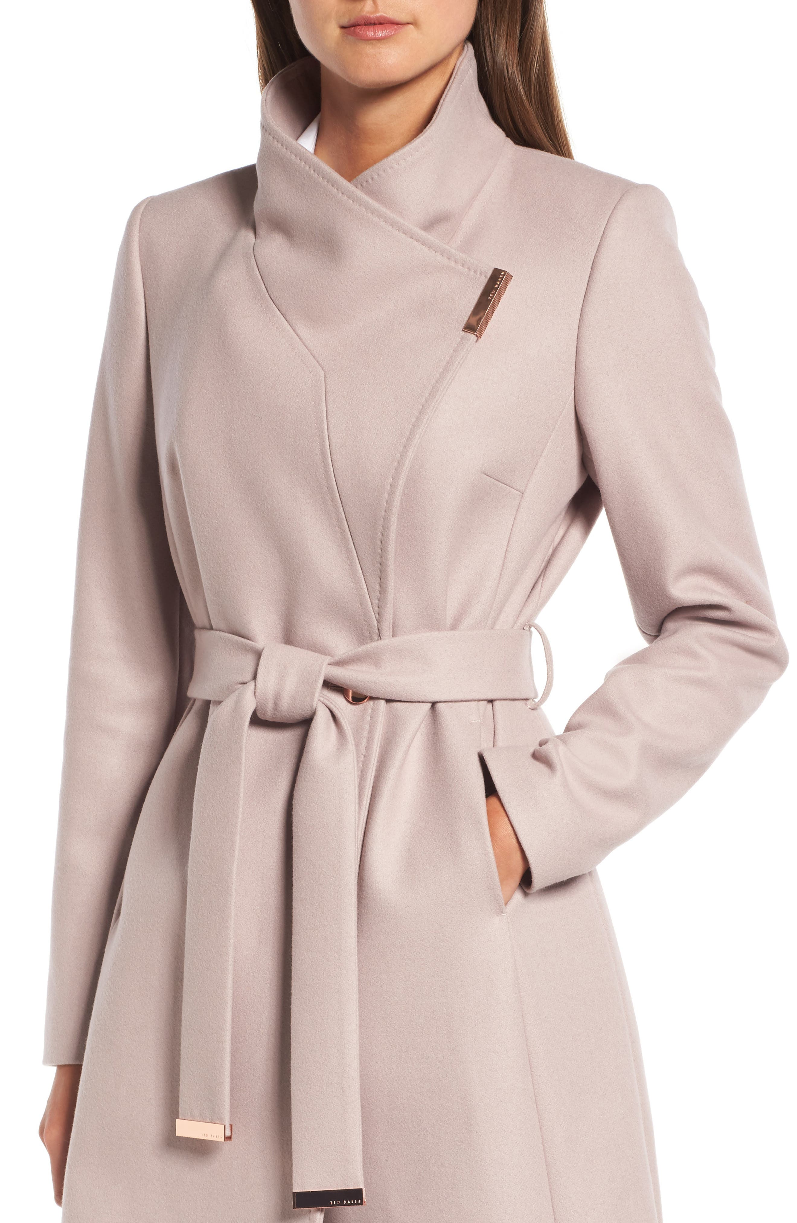 Alternate Image 4  - Ted Baker London Wool Blend Long Wrap Coat