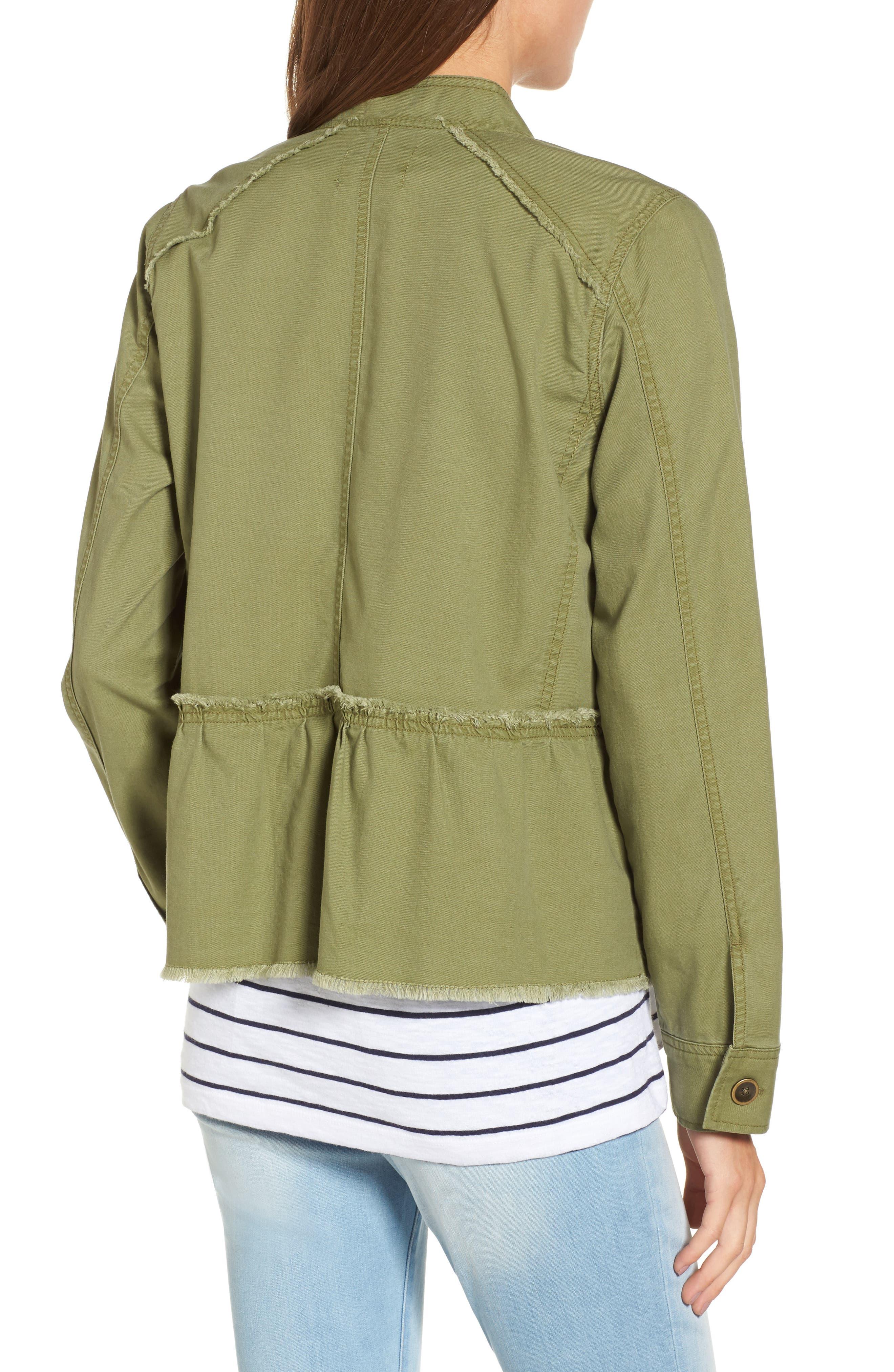 Alternate Image 3  - Caslon® Twill Peplum Jacket (Regular & Petite)