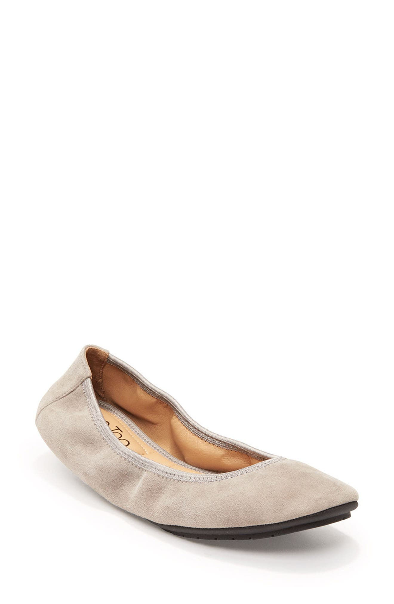 'Icon' Flat,                             Main thumbnail 1, color,                             Light Grey Suede