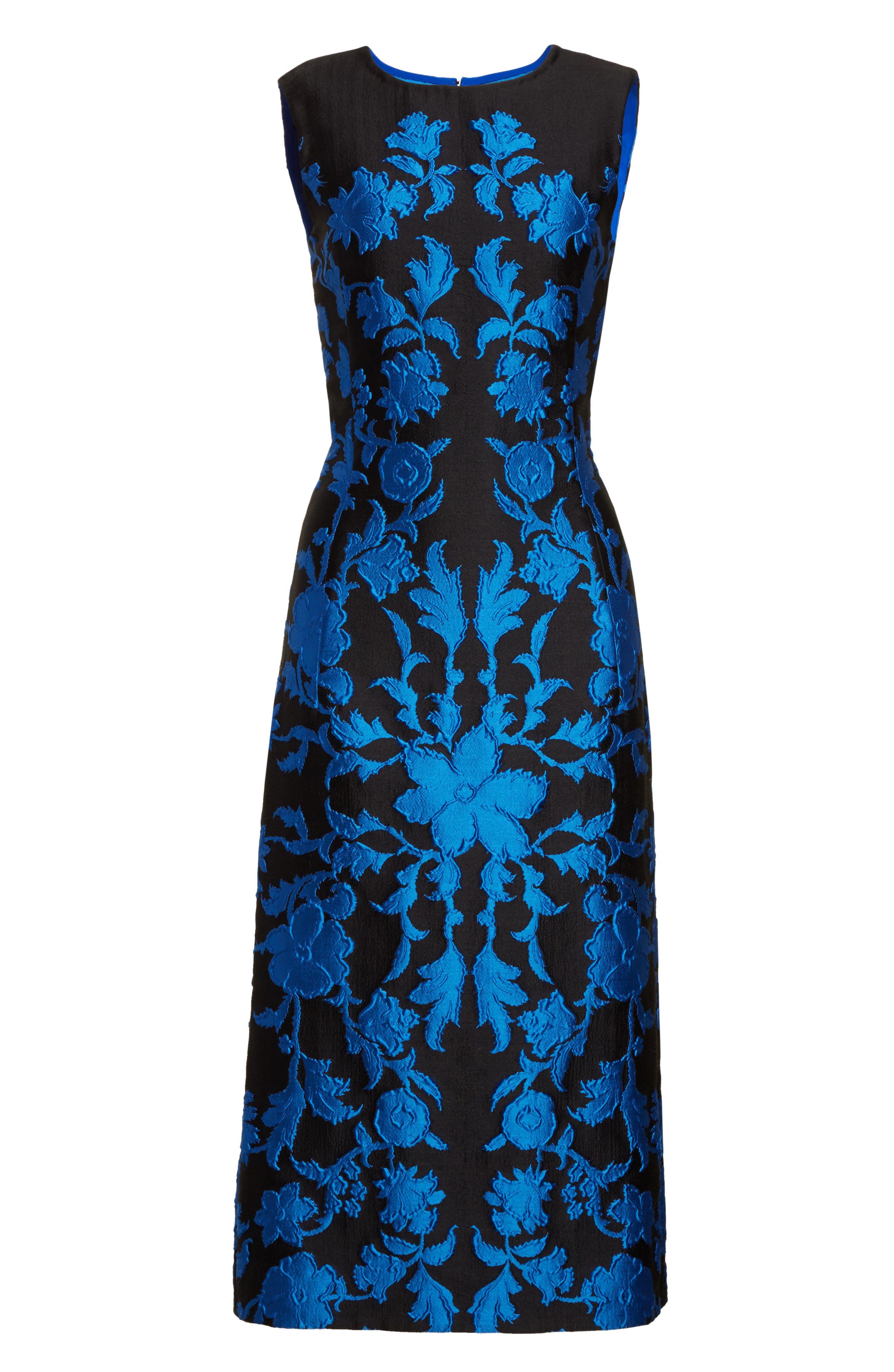 Alternate Image 4  - Oscar de la Renta Matelassé Floral Jacquard Dress