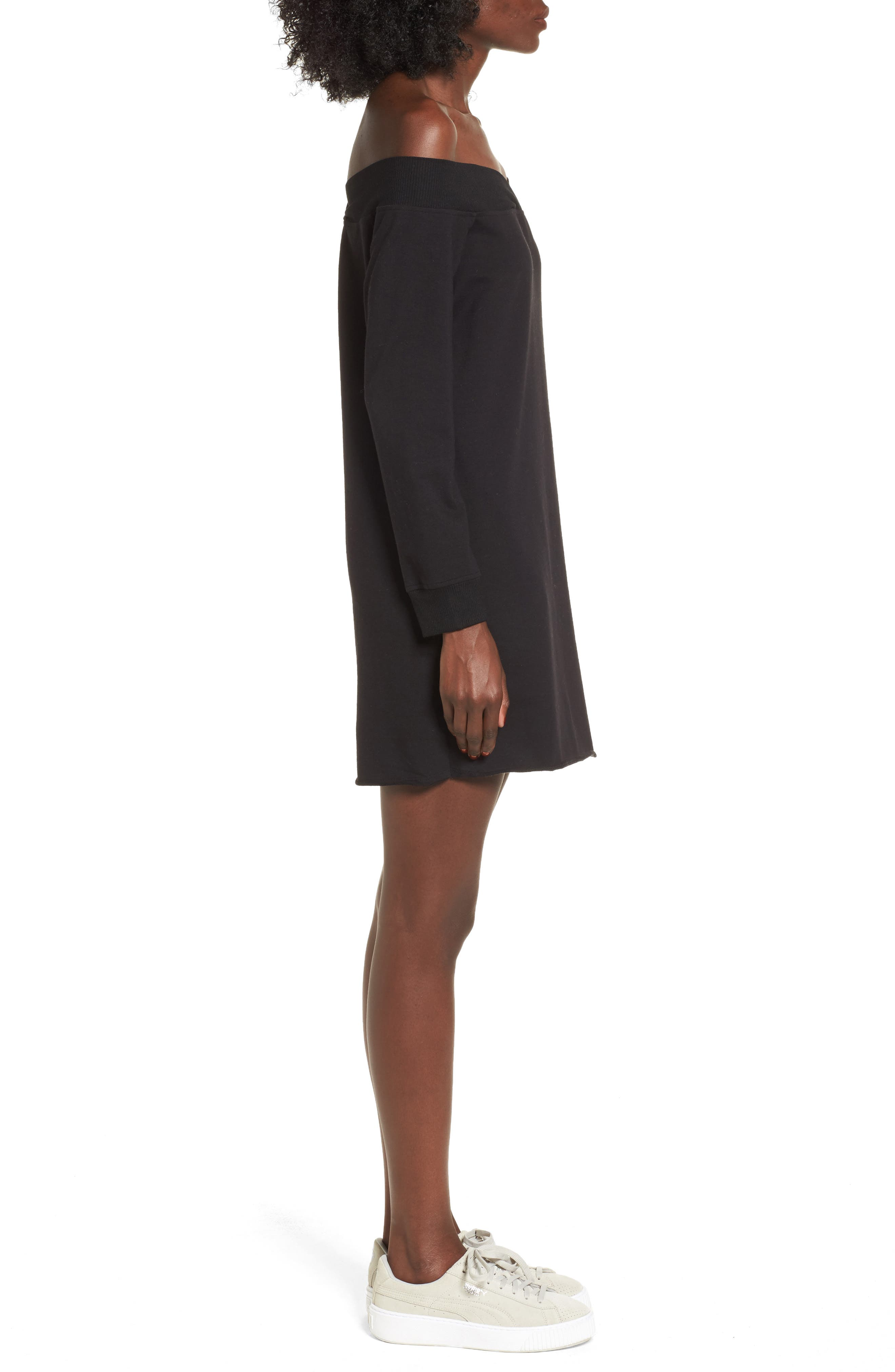 Alternate Image 3  - Socialite Off the Shoulder Sweatshirt Dress