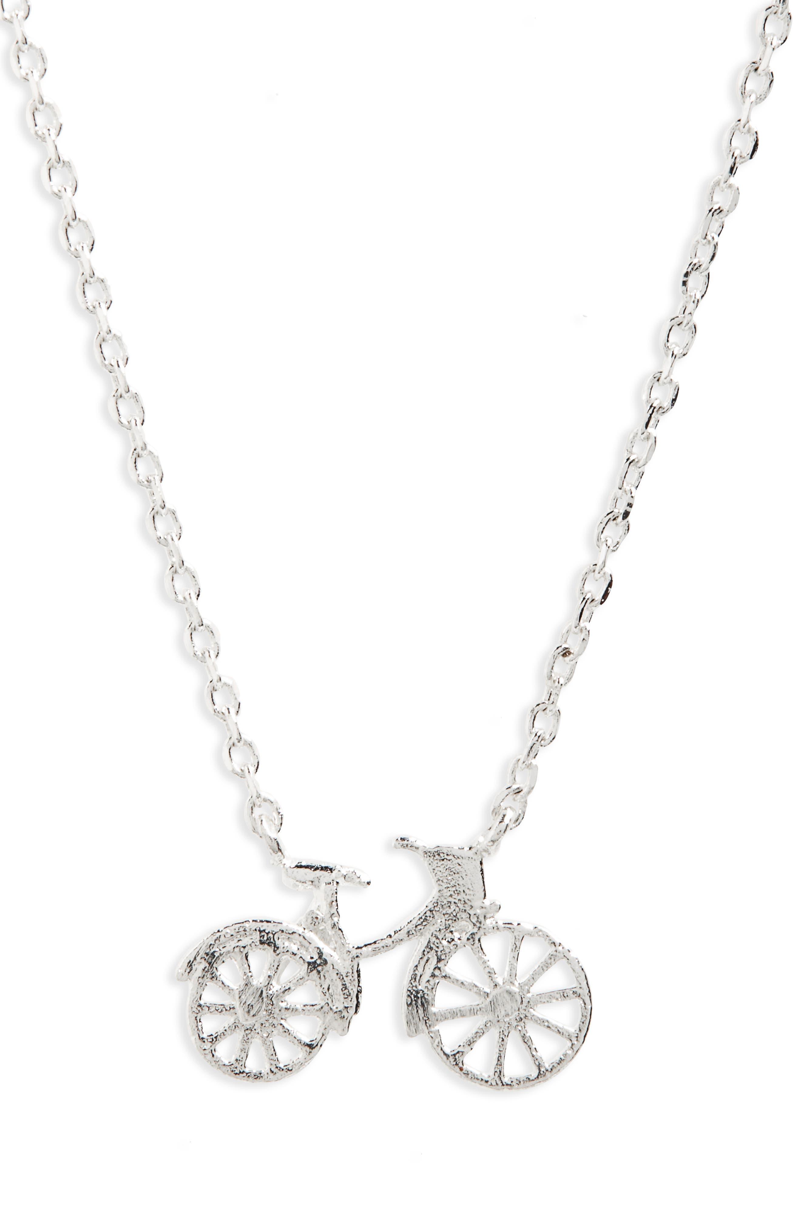 Alternate Image 3  - Estella Bartlett Bicycle Pendant Necklace
