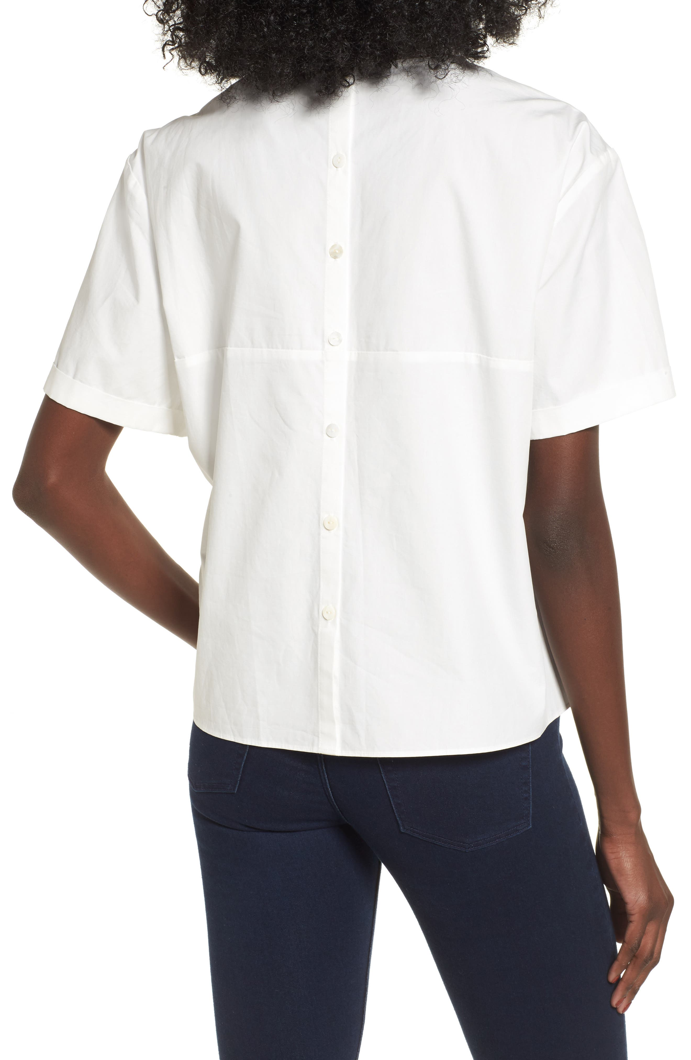Alternate Image 3  - BP. Tie Front Blouse