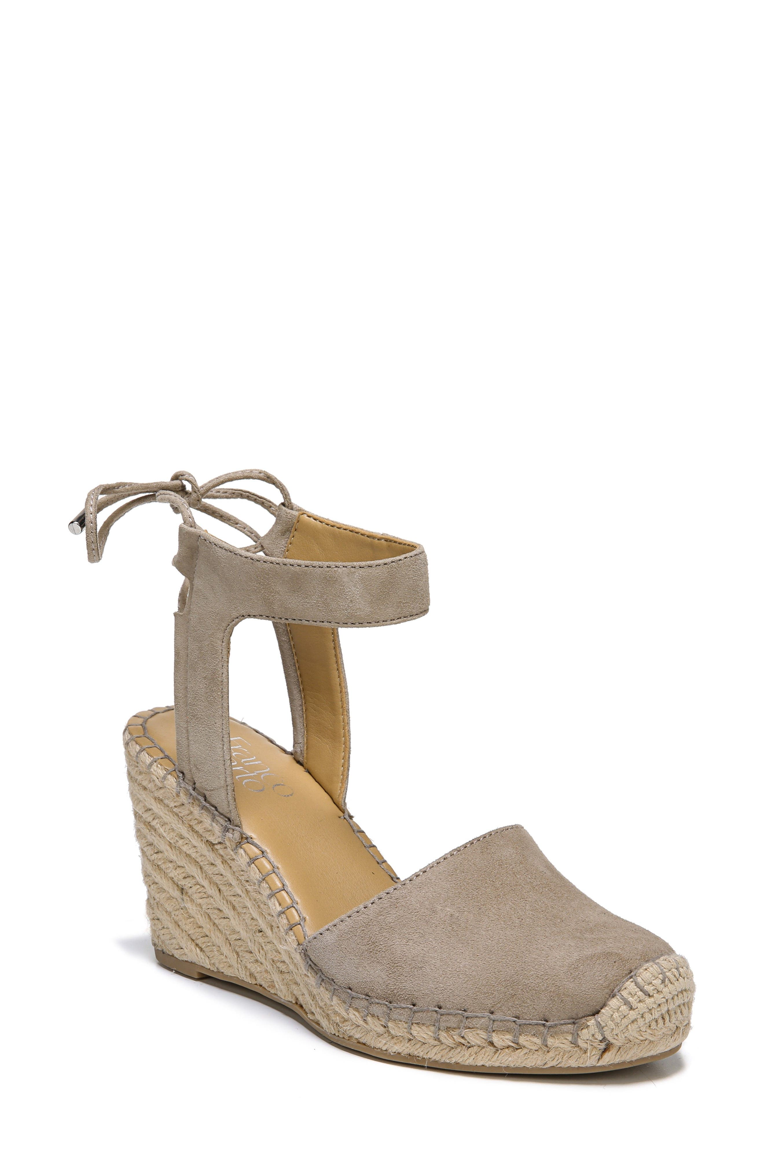 Mariska Espadrille Wedge Sandal,                         Main,                         color, Satin Taupe Suede
