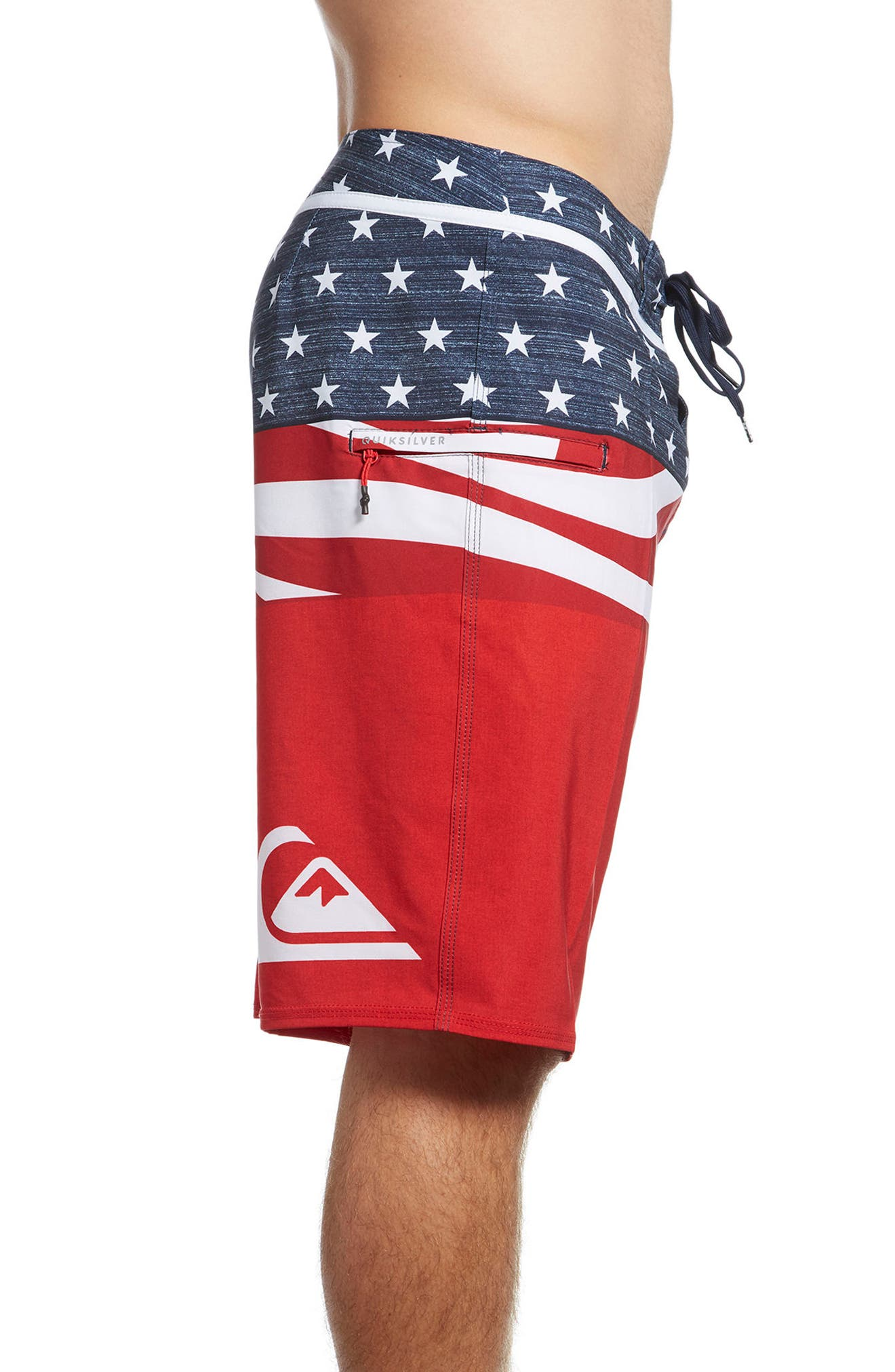 Everyday Blocked Board Shorts,                             Alternate thumbnail 3, color,                             Quik Red