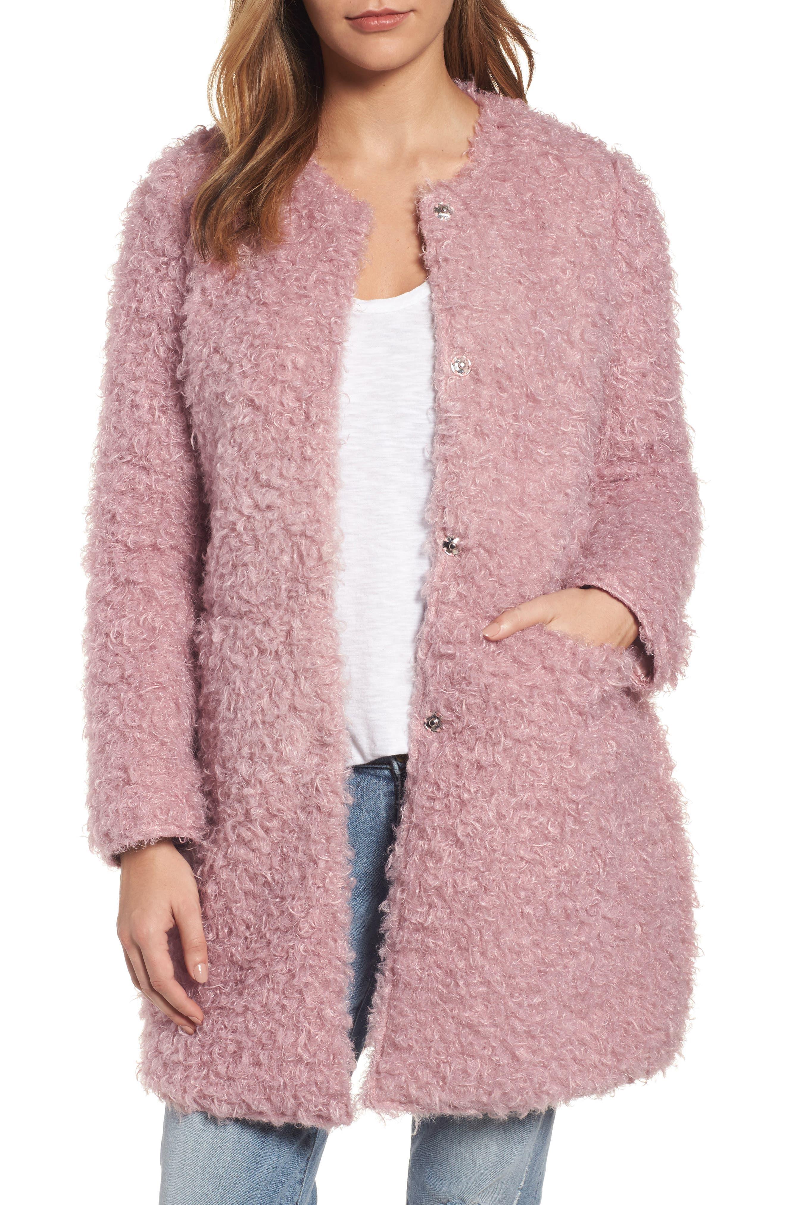 Via Spiga Reversible Faux Fur Coat