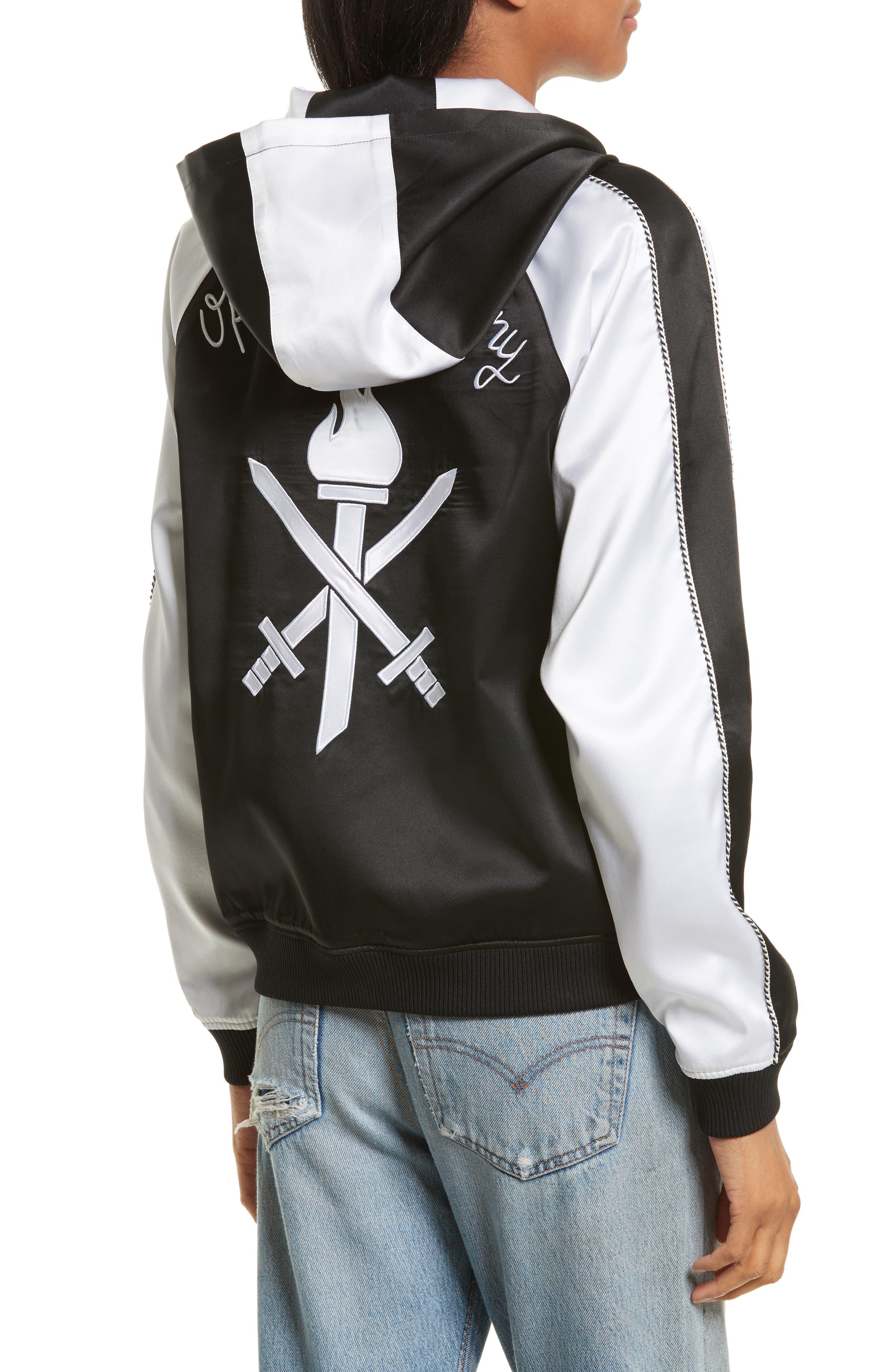 OC Reversible Silk Track Jacket,                             Alternate thumbnail 6, color,                             Black Multi