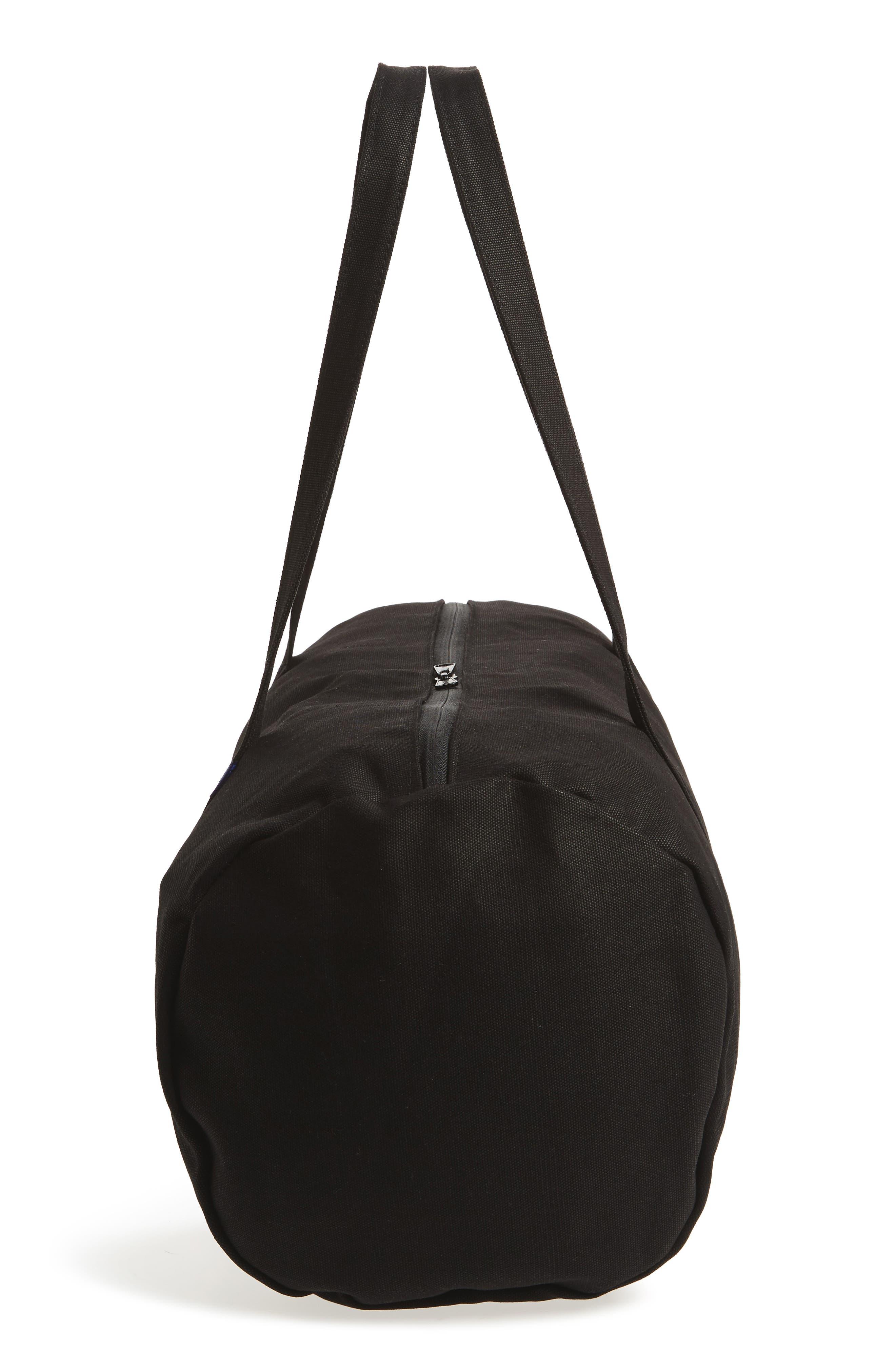Canvas Duffel Bag,                             Alternate thumbnail 4, color,                             Black