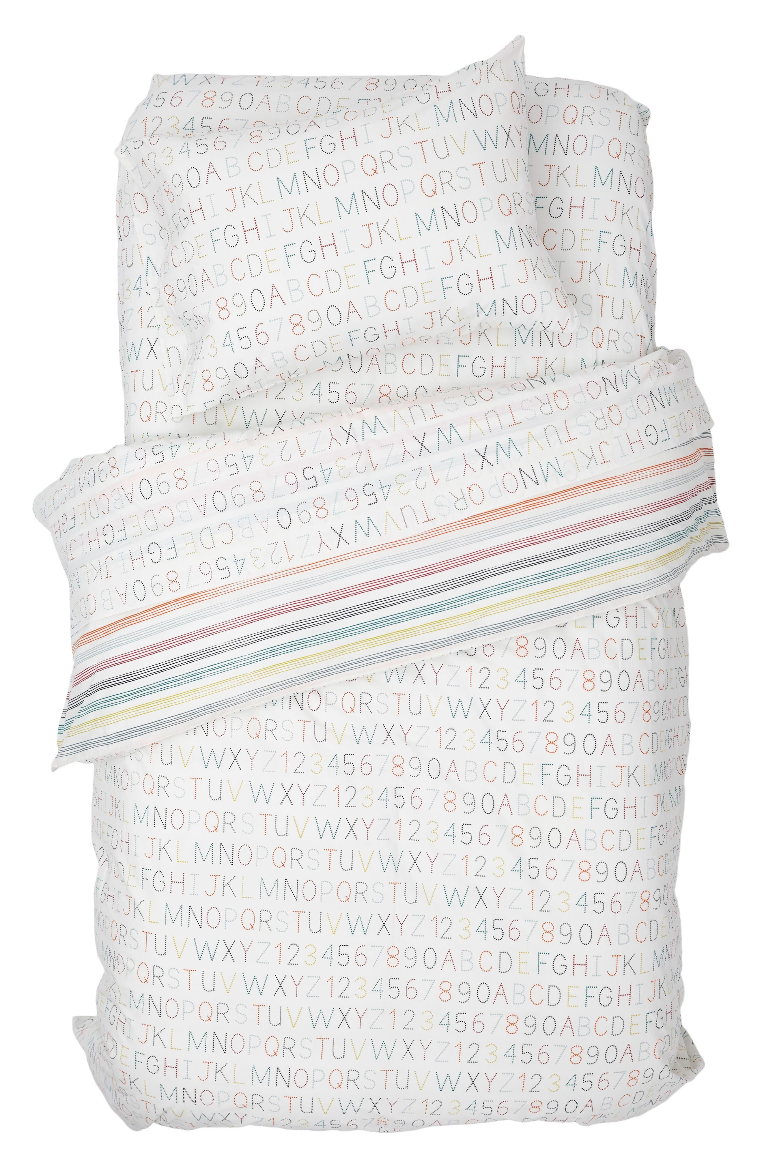 Main Image - Petit Pehr Alphabet Reversible Duvet Cover