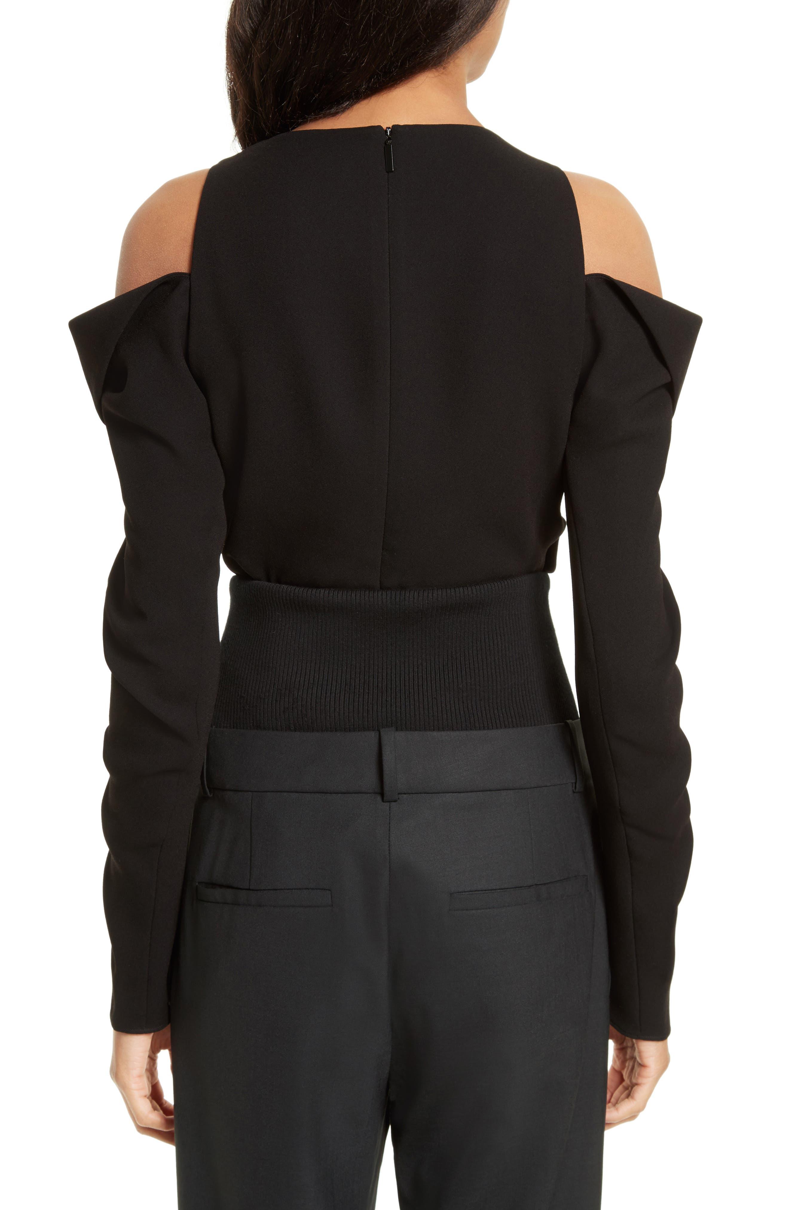 Alternate Image 2  - Tibi Crepe Open Shoulder Top