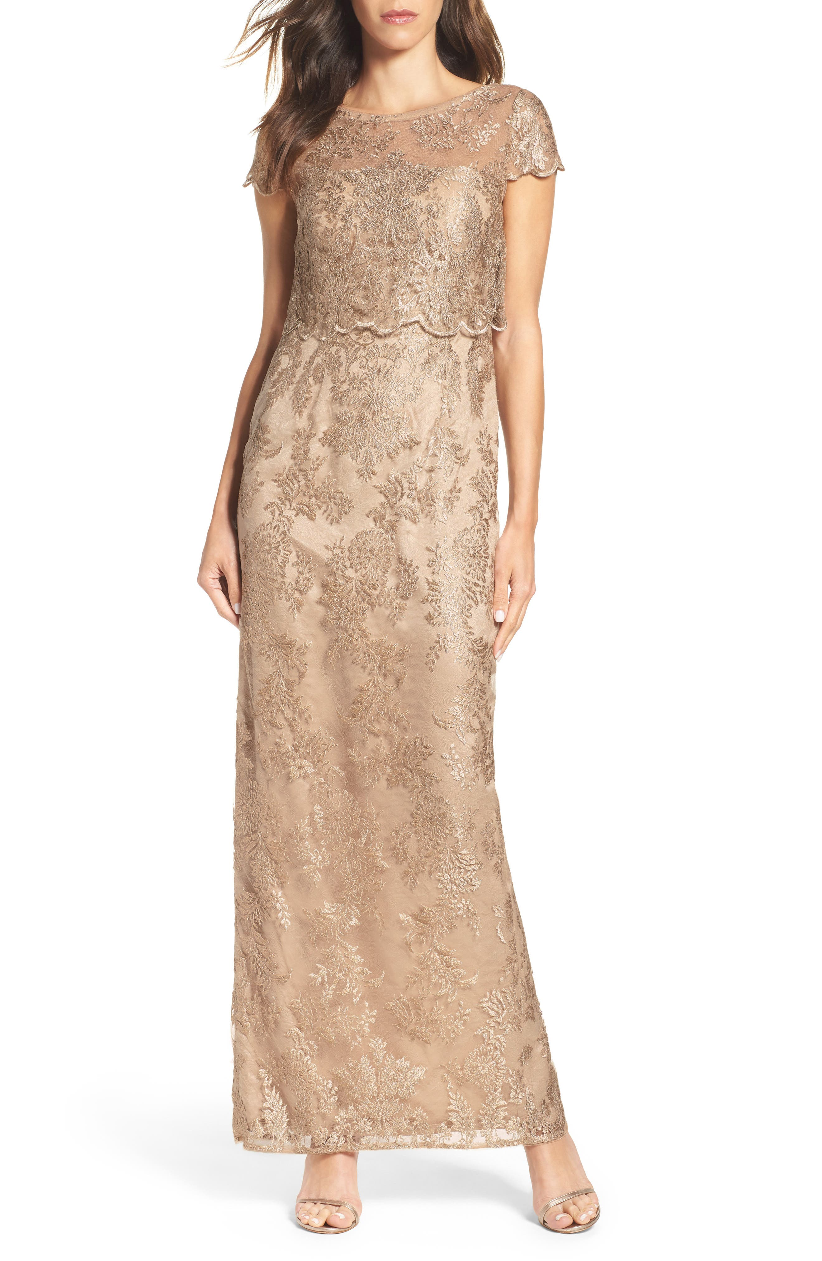 Main Image - Adrianna Papell Popover Gown (Regular & Petite)