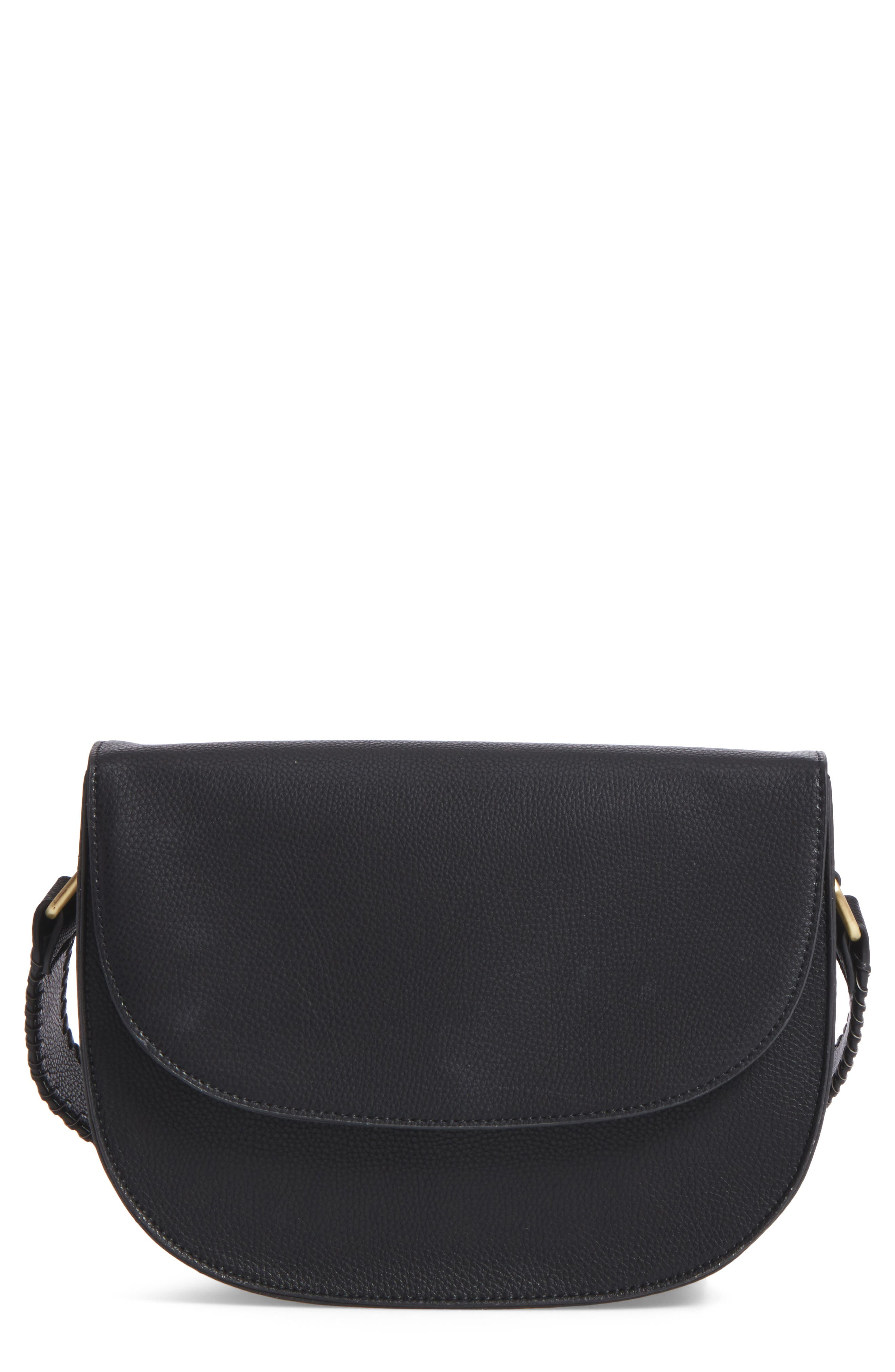 Main Image - Sole Society Honor Faux Leather Messenger Bag