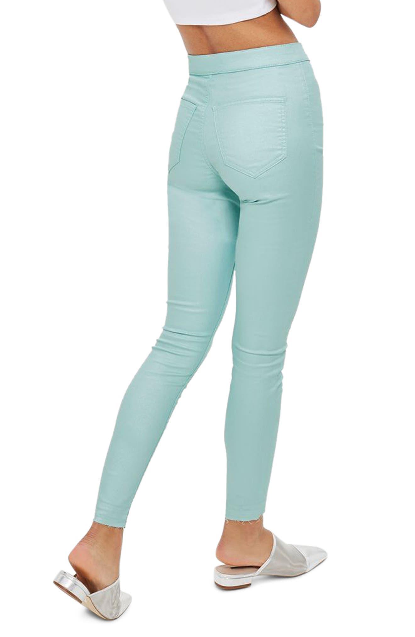 Joni Shimmer Skinny Jeans,                             Alternate thumbnail 3, color,                             Mint