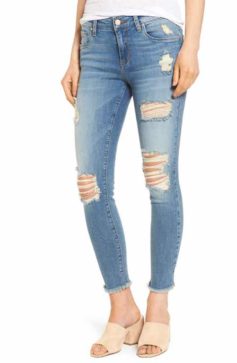 Ripped Crop Skinny Jeans - Women's Cropped Jeans Nordstrom Nordstrom