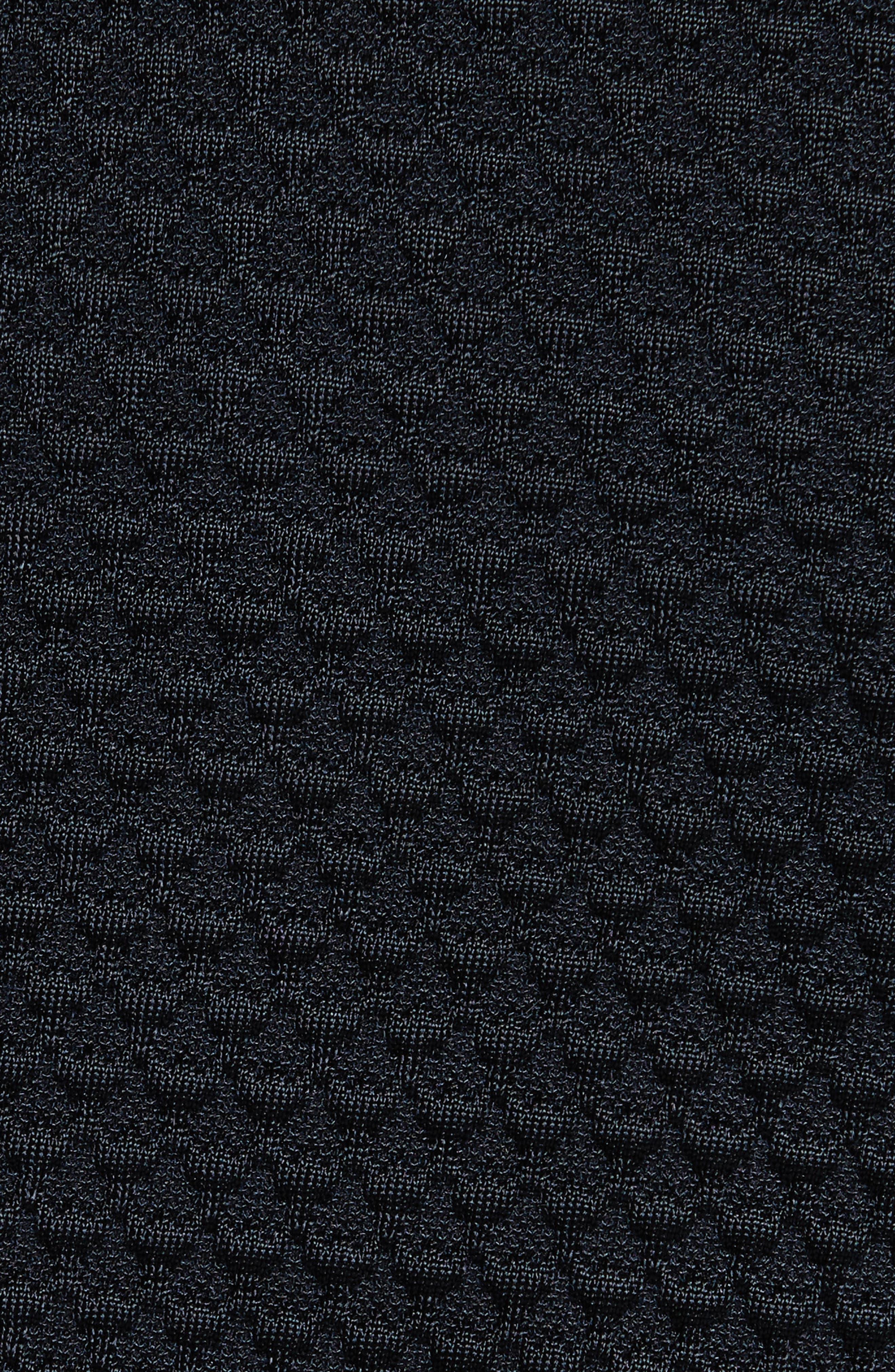 Alternate Image 5  - Armani Collezioni Jacquard Button Front Sweater