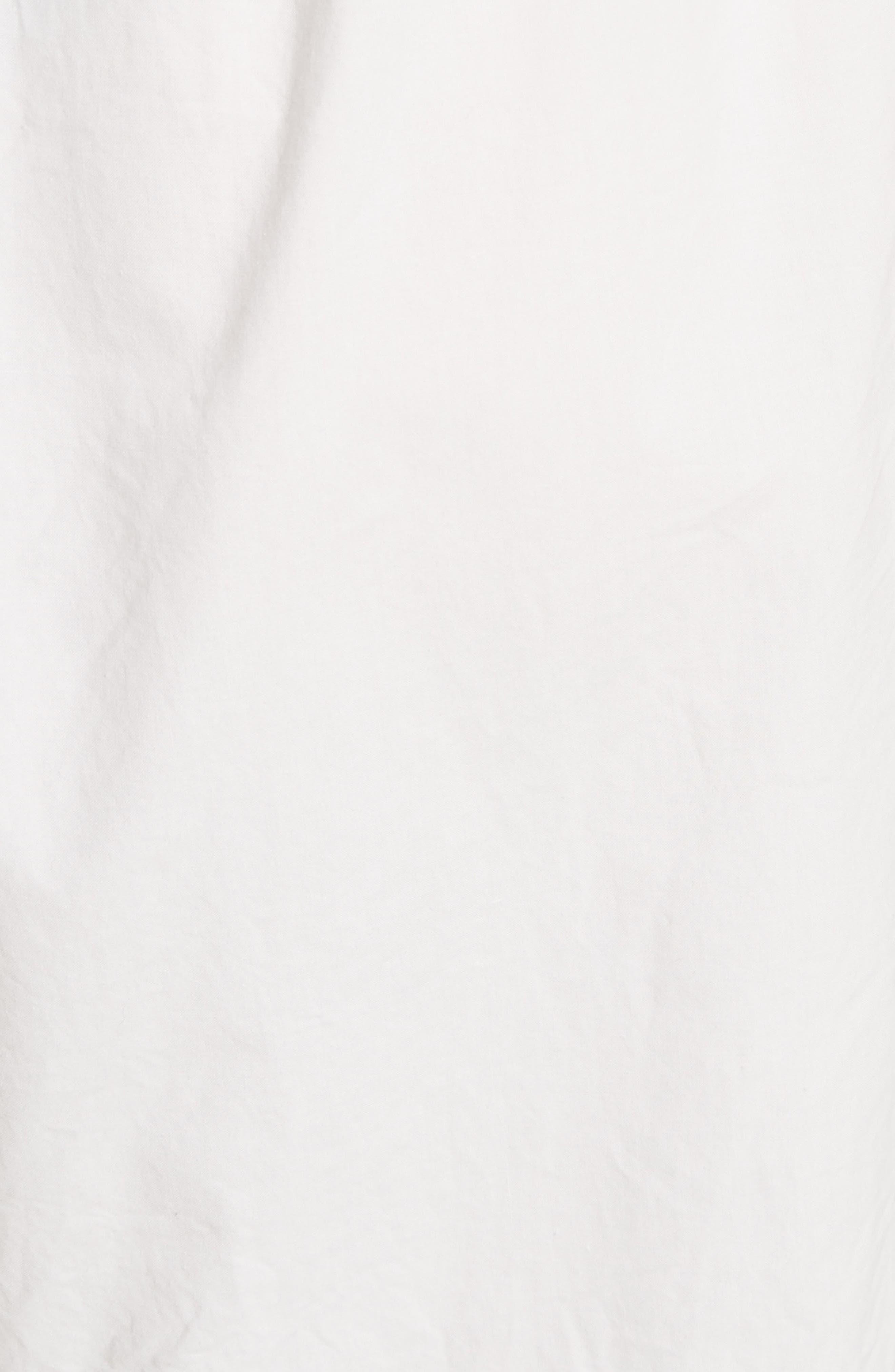 Washed Cotton Wide Leg Crop Pants,                             Alternate thumbnail 3, color,                             White