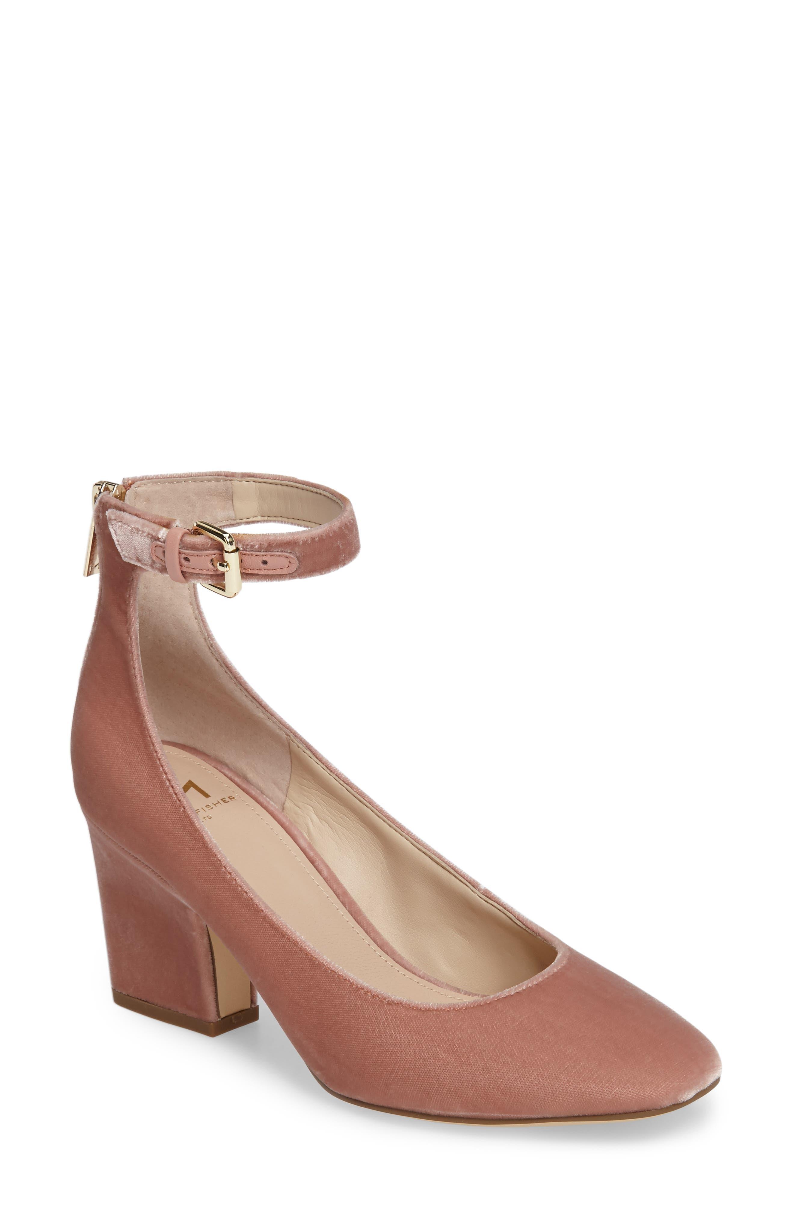 Anisy Ankle Strap Pump,                         Main,                         color, Blush Velvet
