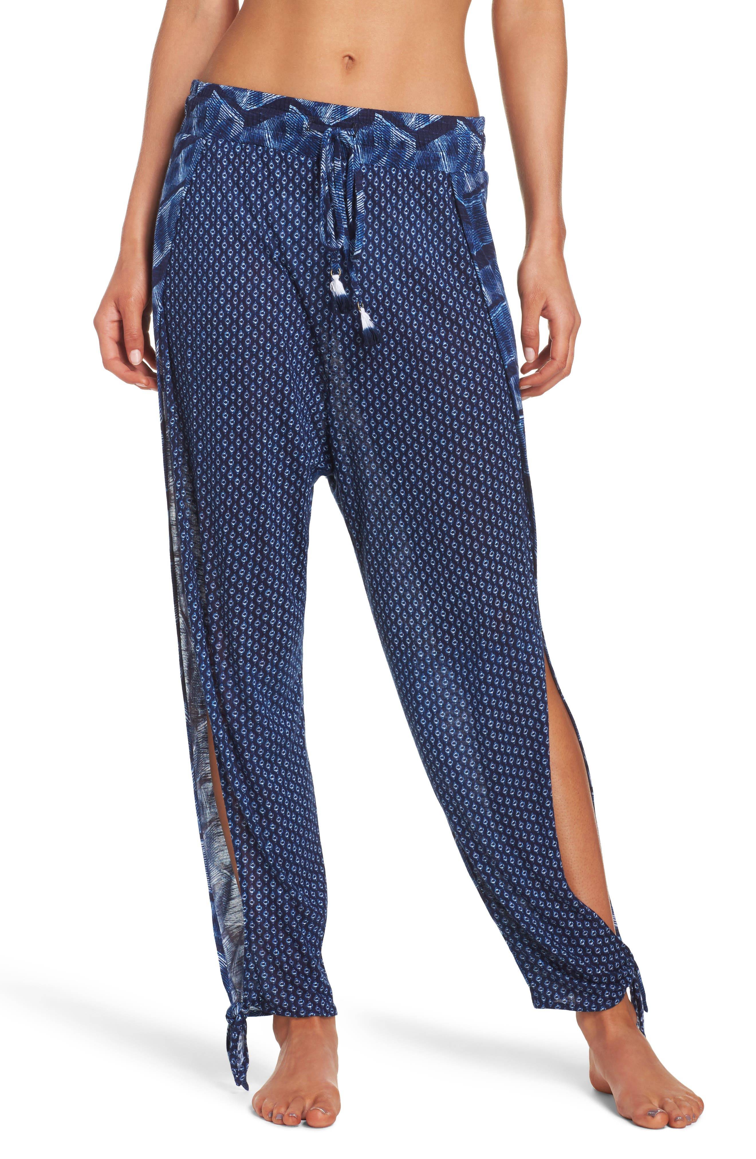 Nomad Ankle Tie Cover-Up Pants,                         Main,                         color, Navy