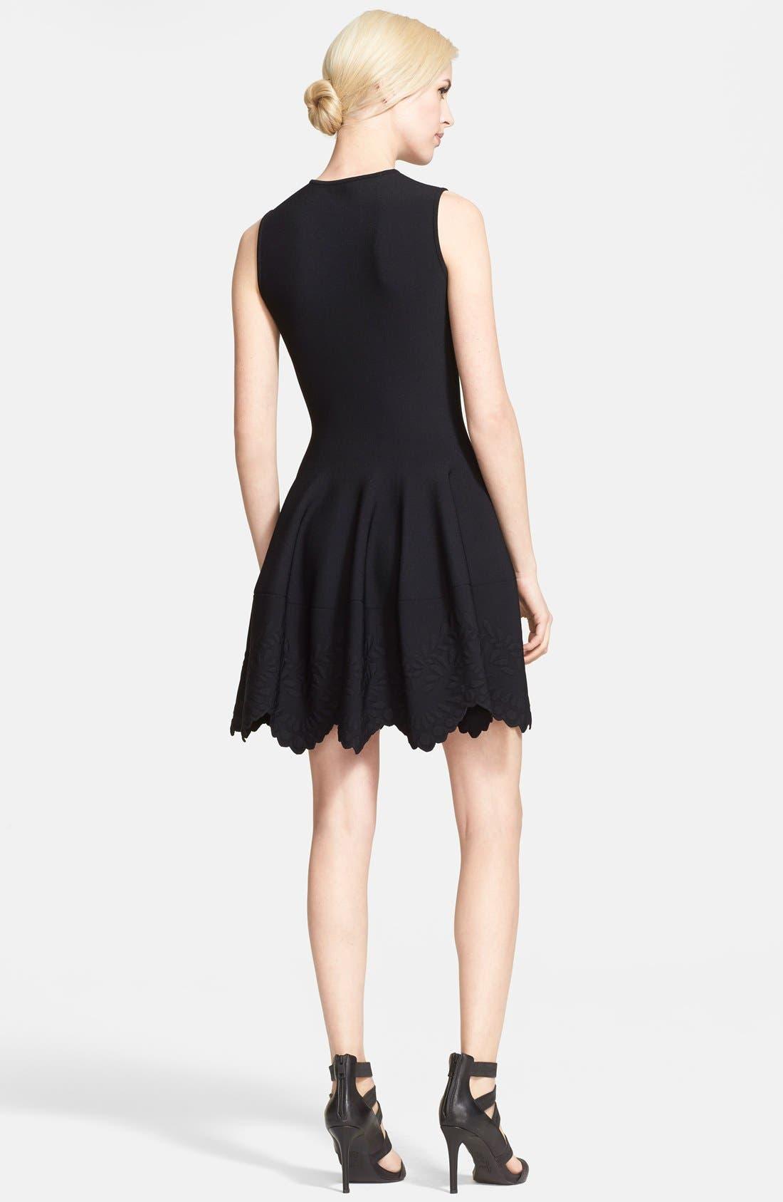 Alternate Image 2  - Alexander McQueen Jacquard Knit Dress