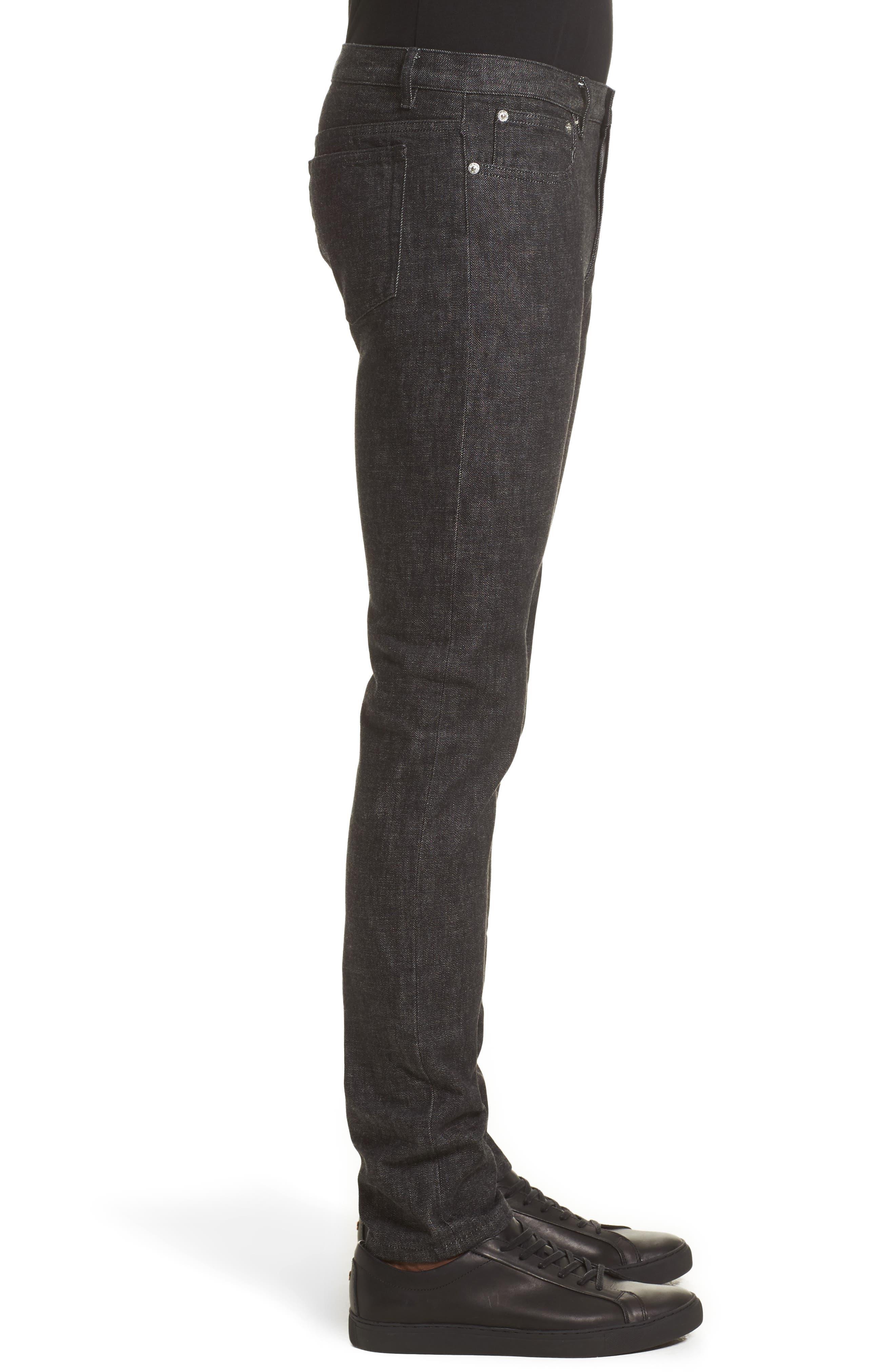 Petite New Standard Jeans,                             Alternate thumbnail 4, color,                             Faux Noir