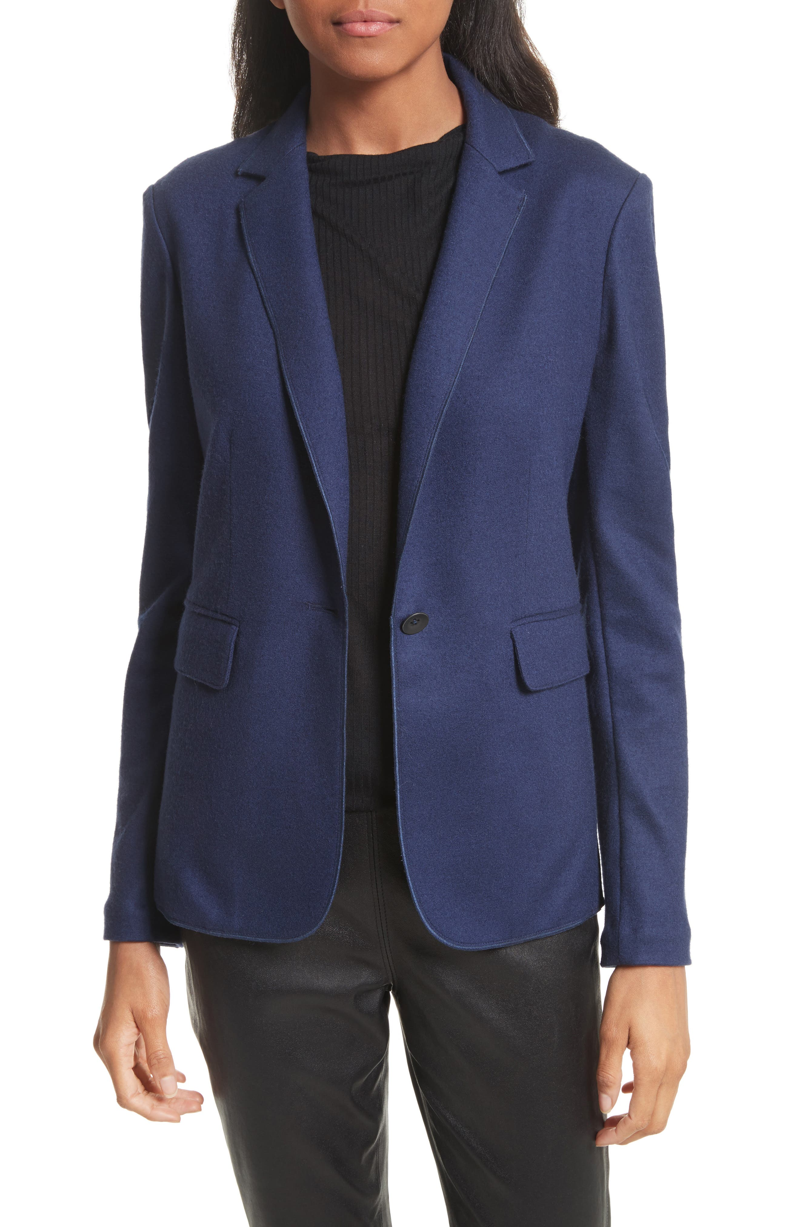 Club Wool Jacket,                         Main,                         color, Bright Blue