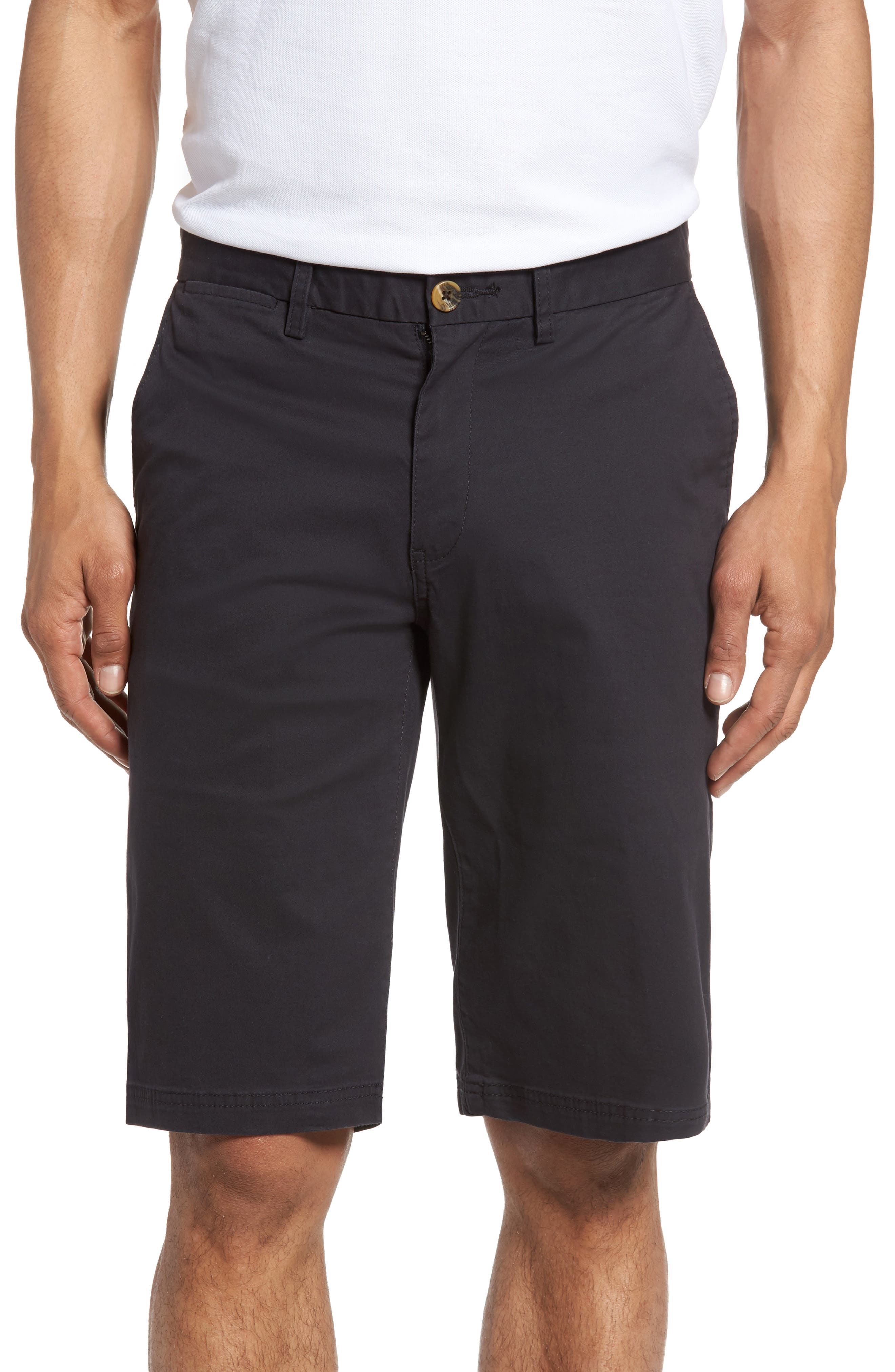 Slim Stretch Chino Shorts,                             Main thumbnail 1, color,                             Dark Navy