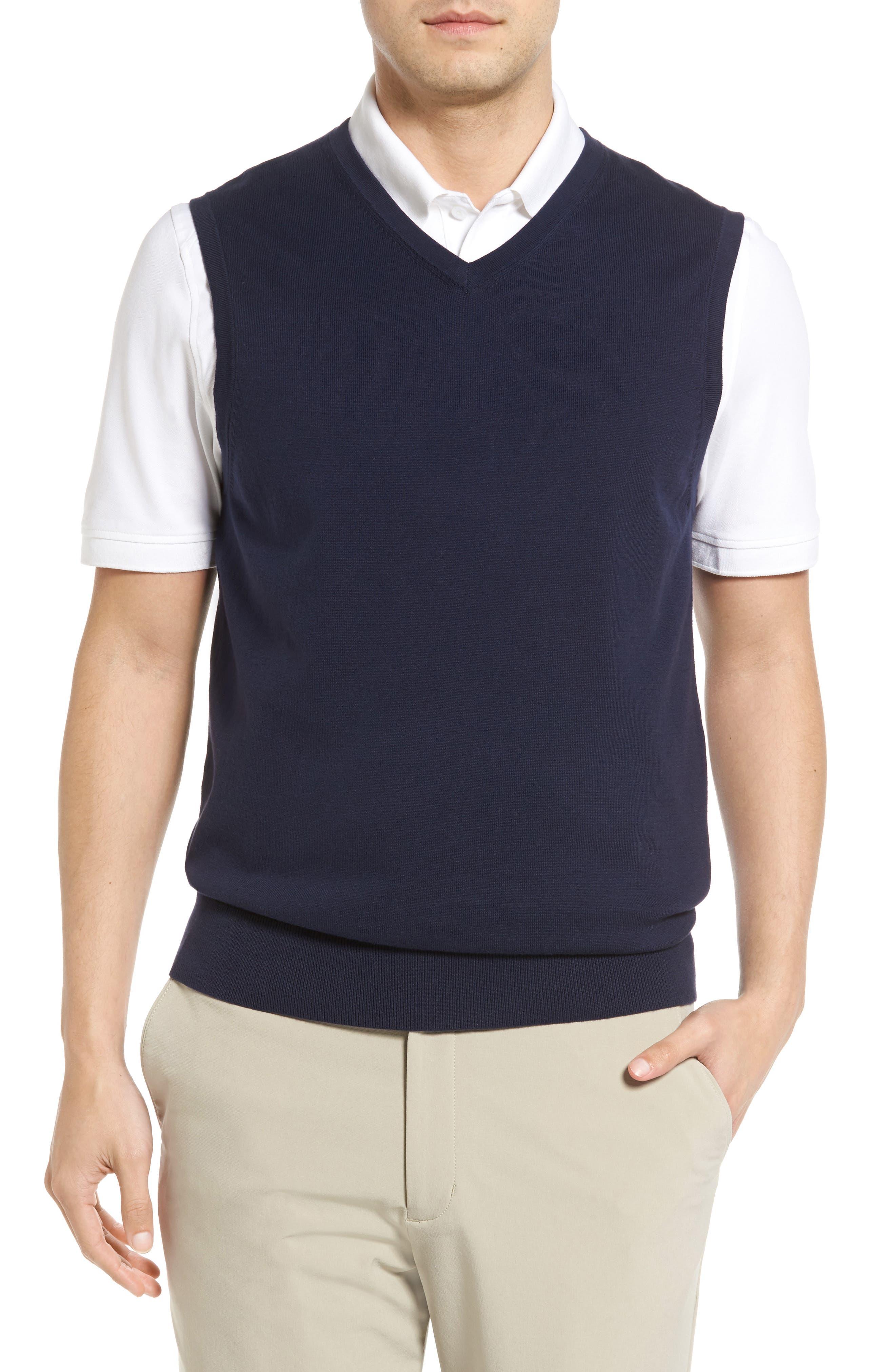 Lakemont V-Neck Sweater Vest,                             Main thumbnail 1, color,                             Liberty Navy