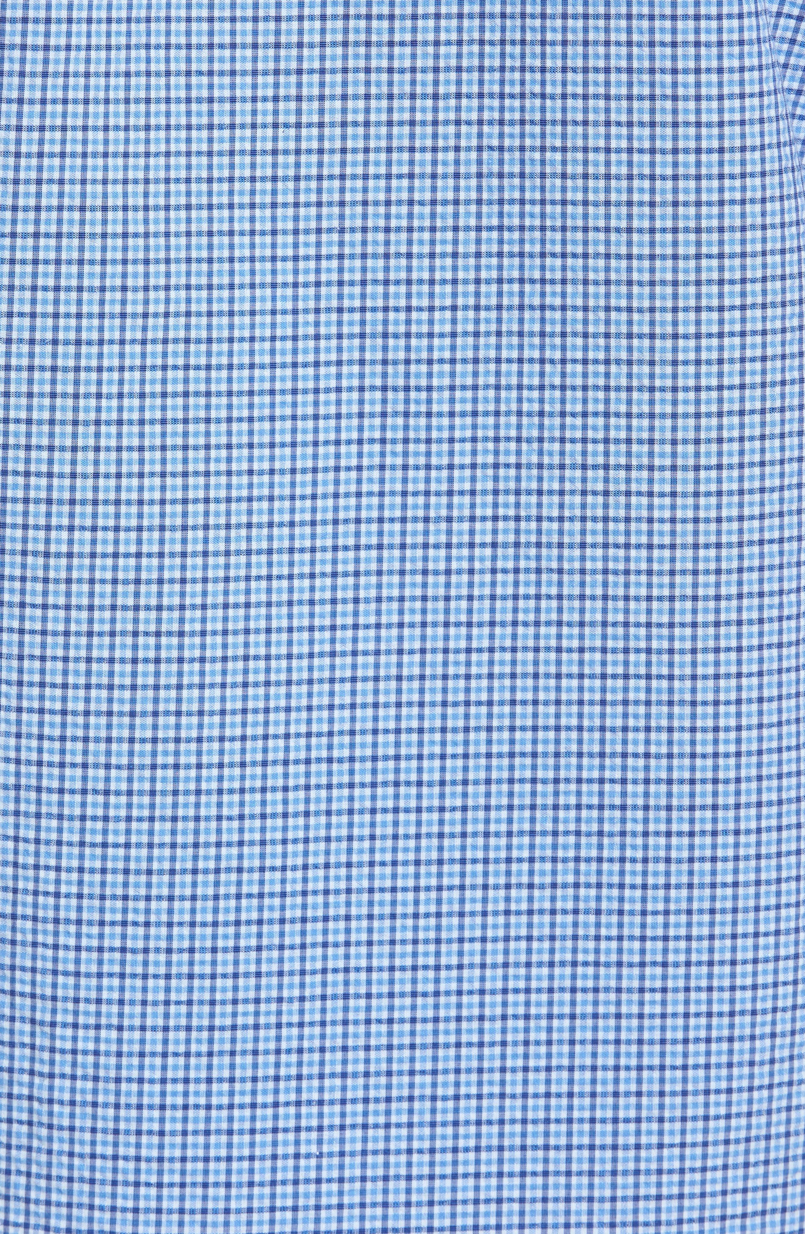 Short Sleeve Sport Shirt,                             Alternate thumbnail 5, color,                             Teal