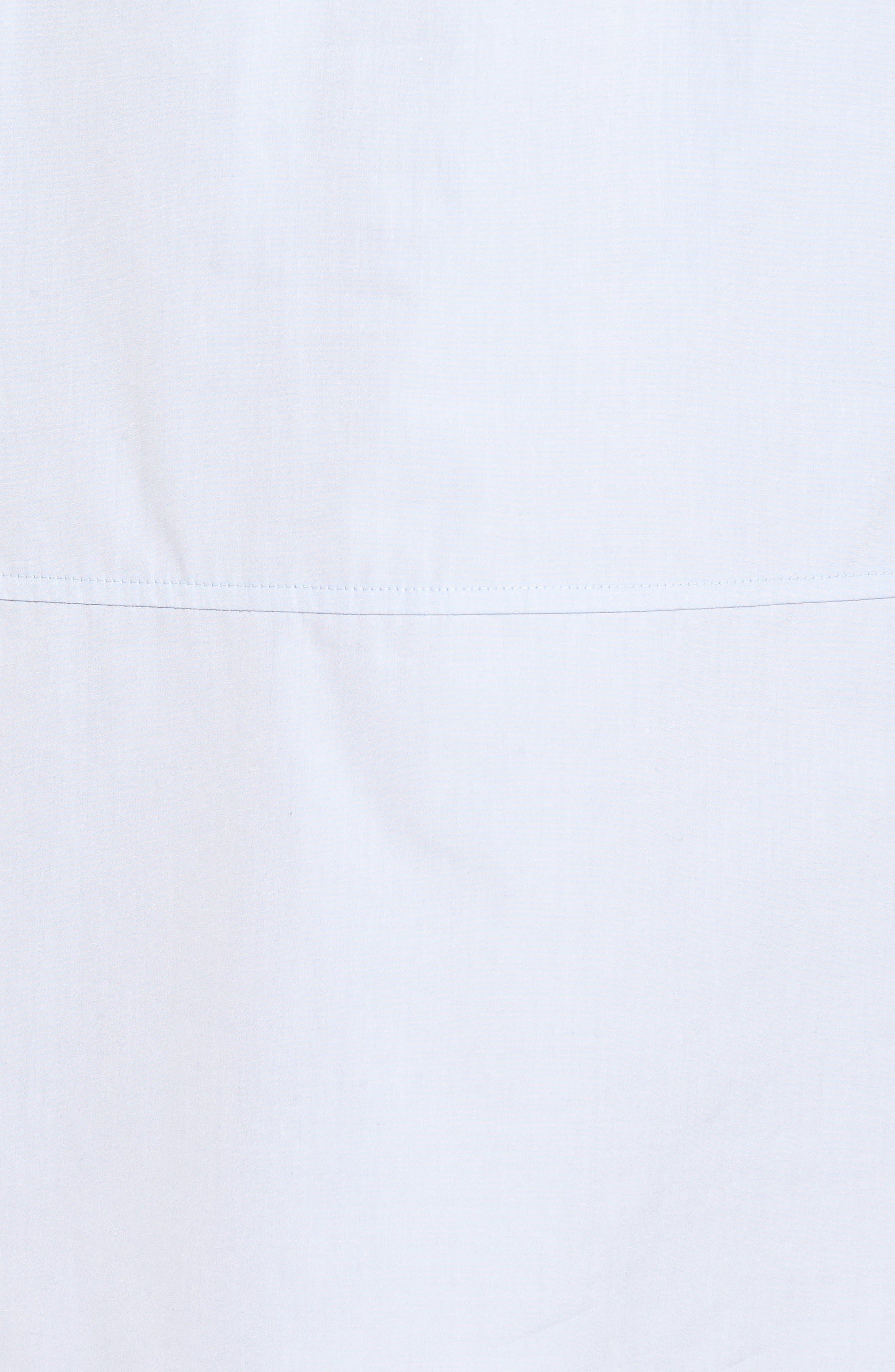 Alternate Image 5  - Nordstrom Signature Solid Poplin Shirtdress