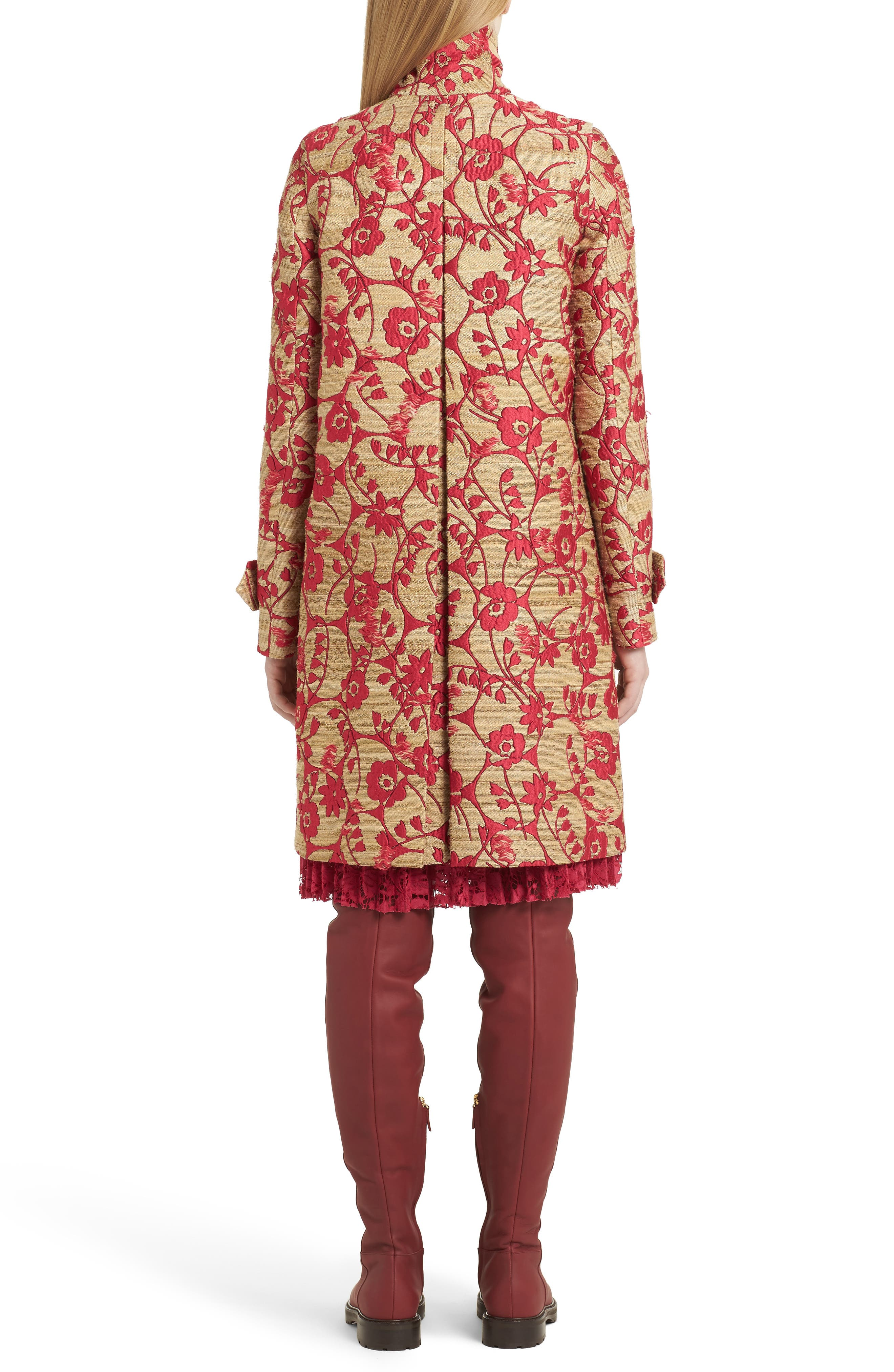 Alternate Image 2  - Valentino Flower Circles Jacquard Coat