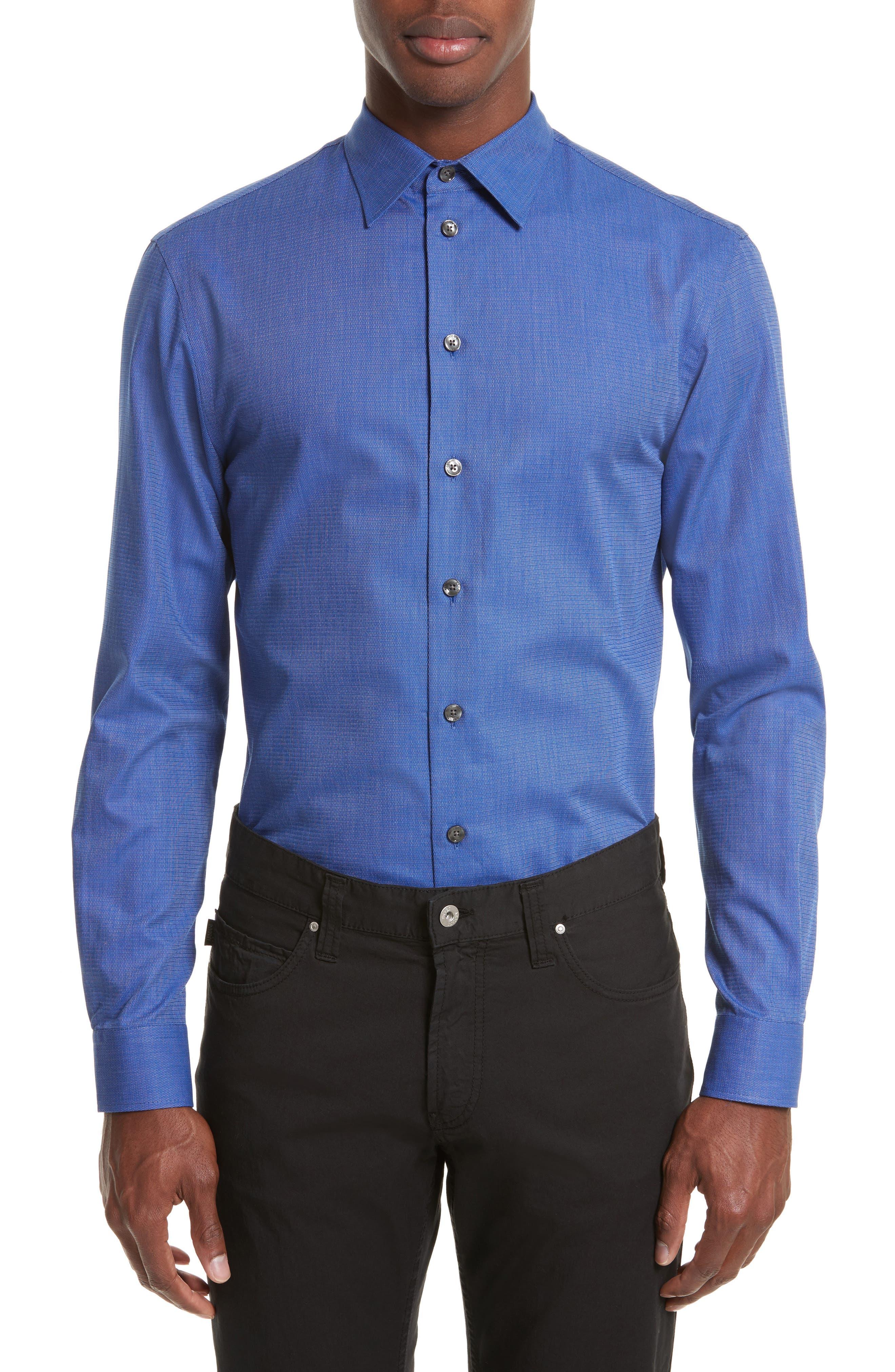 Regular Fit Woven Sport Shirt,                         Main,                         color, High Blue