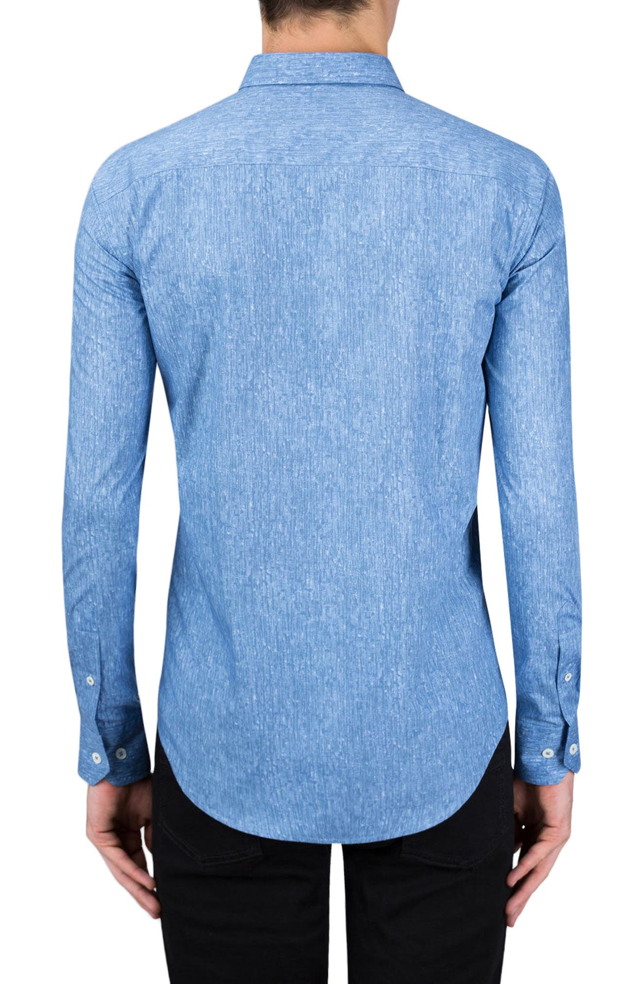 Classic Fit Abstract Print Sport Shirt,                             Alternate thumbnail 2, color,                             Air Blue