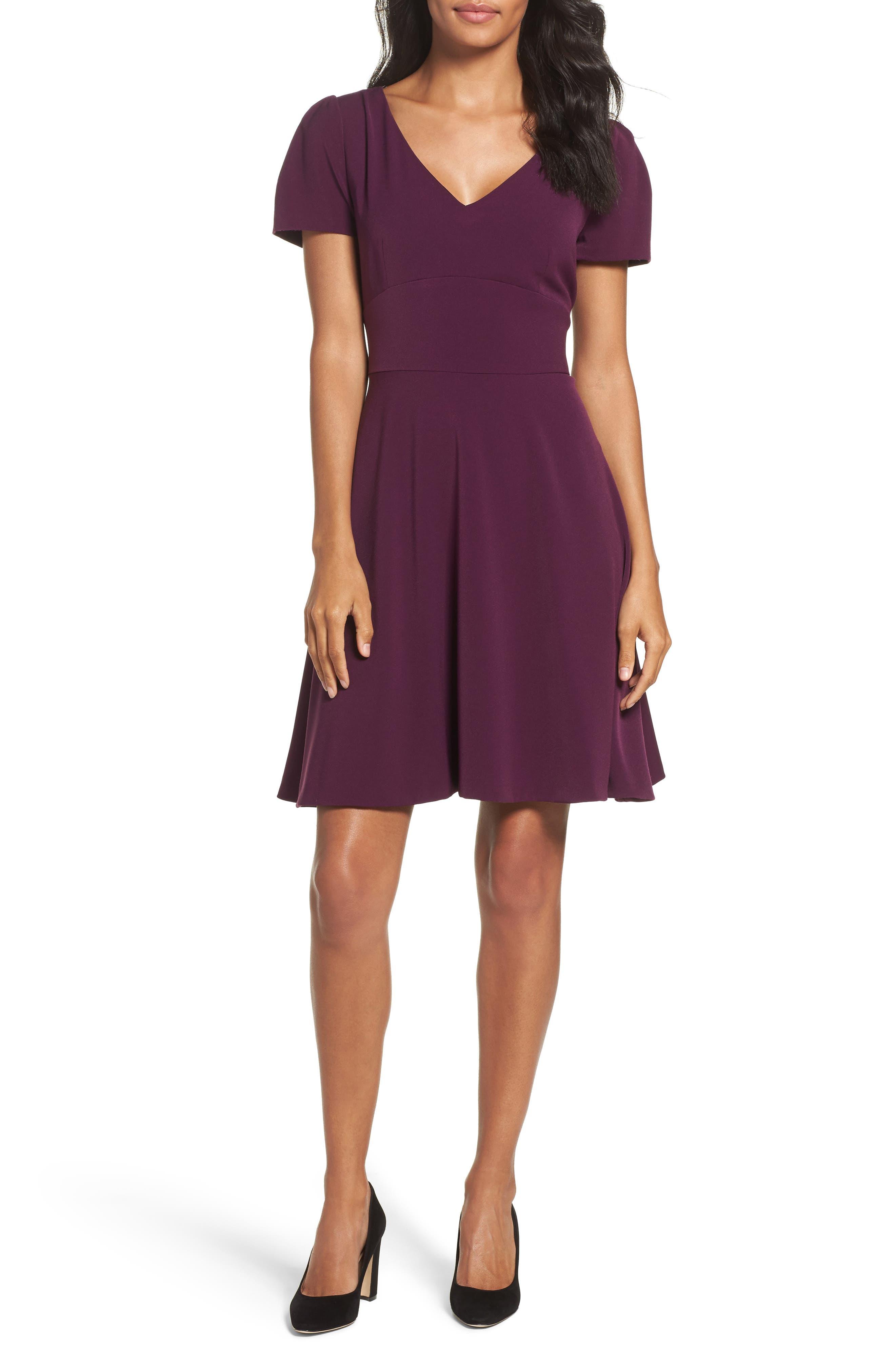 Tahari Crepe Fit & Flare Dress (Regular & Petite)