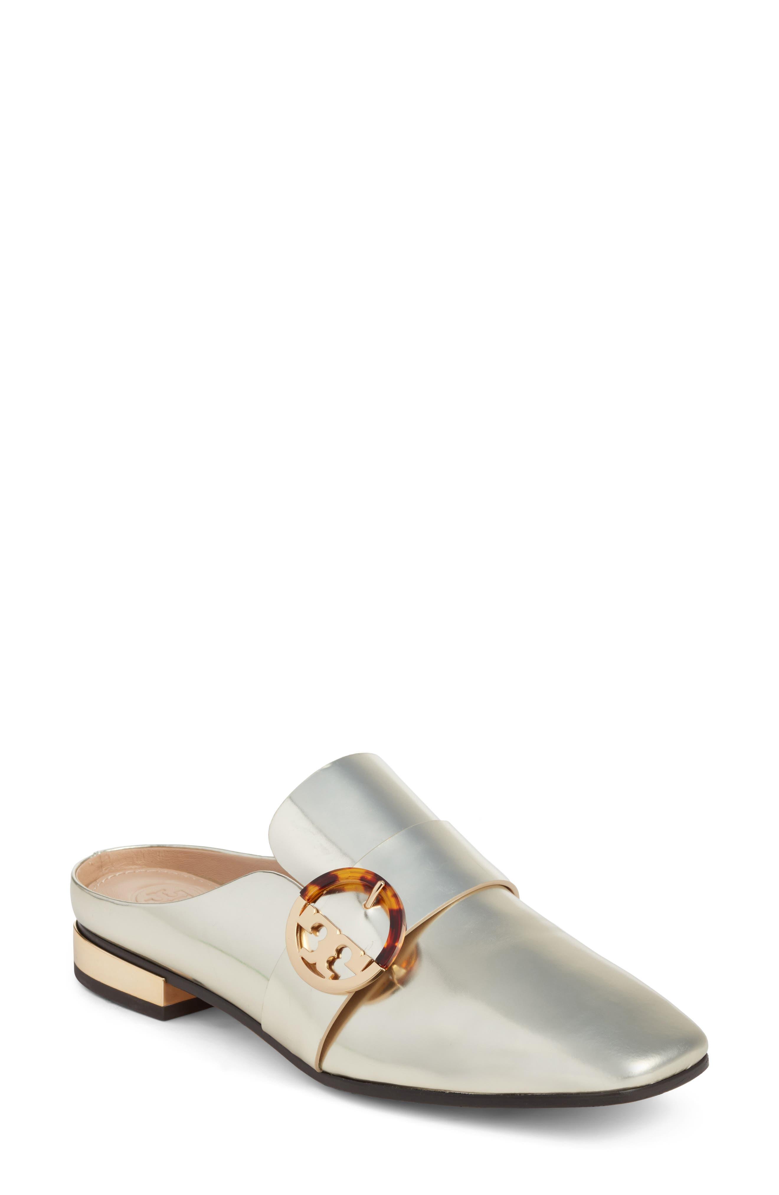 Sidney Backless Loafer,                         Main,                         color, Spark Gold