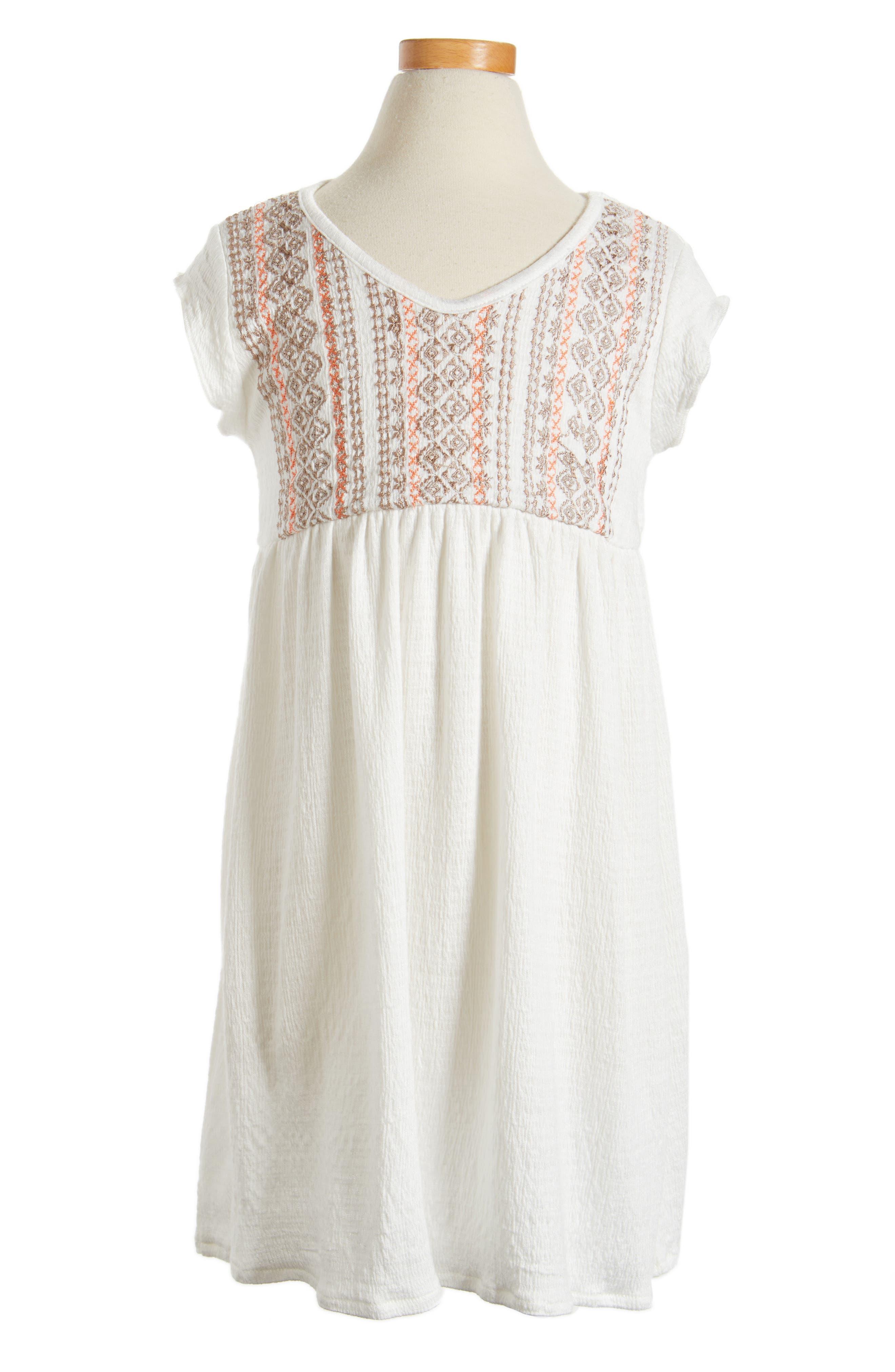 Alternate Image 1 Selected - O'Neill Sandie Embroidered Dress (Toddler Girls & Little Girls)