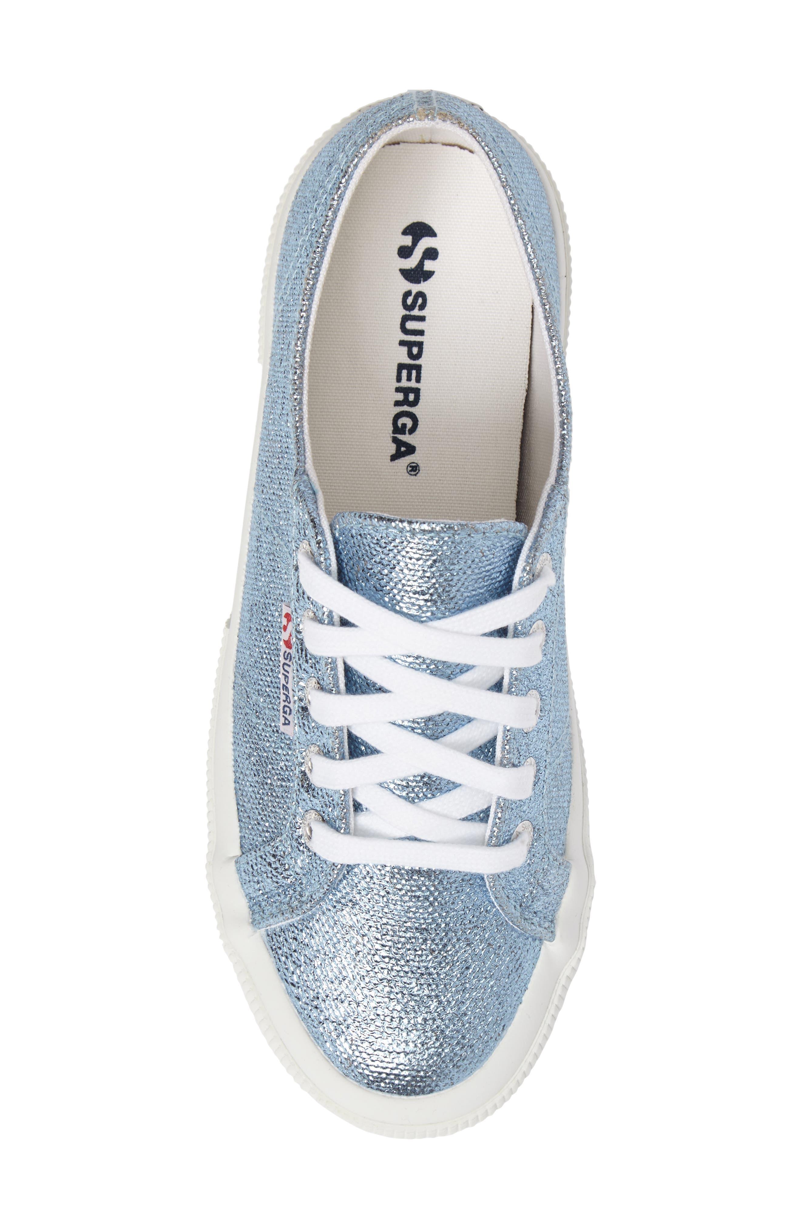 2750 Metallic Sneaker,                             Alternate thumbnail 5, color,                             Light Blue