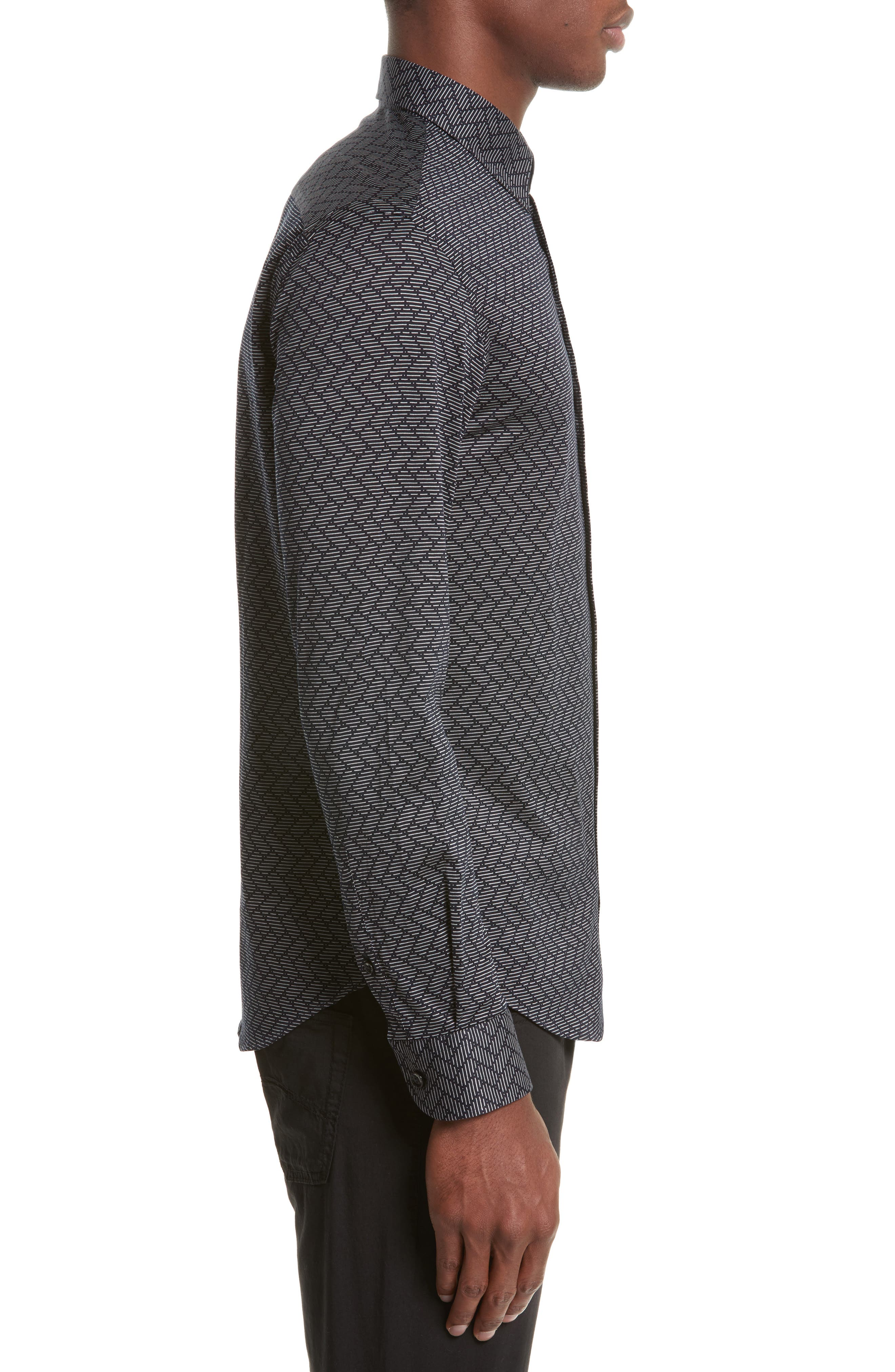 Alternate Image 3  - Armani Collezioni Regular Fit Chevron Stripe Sport Shirt