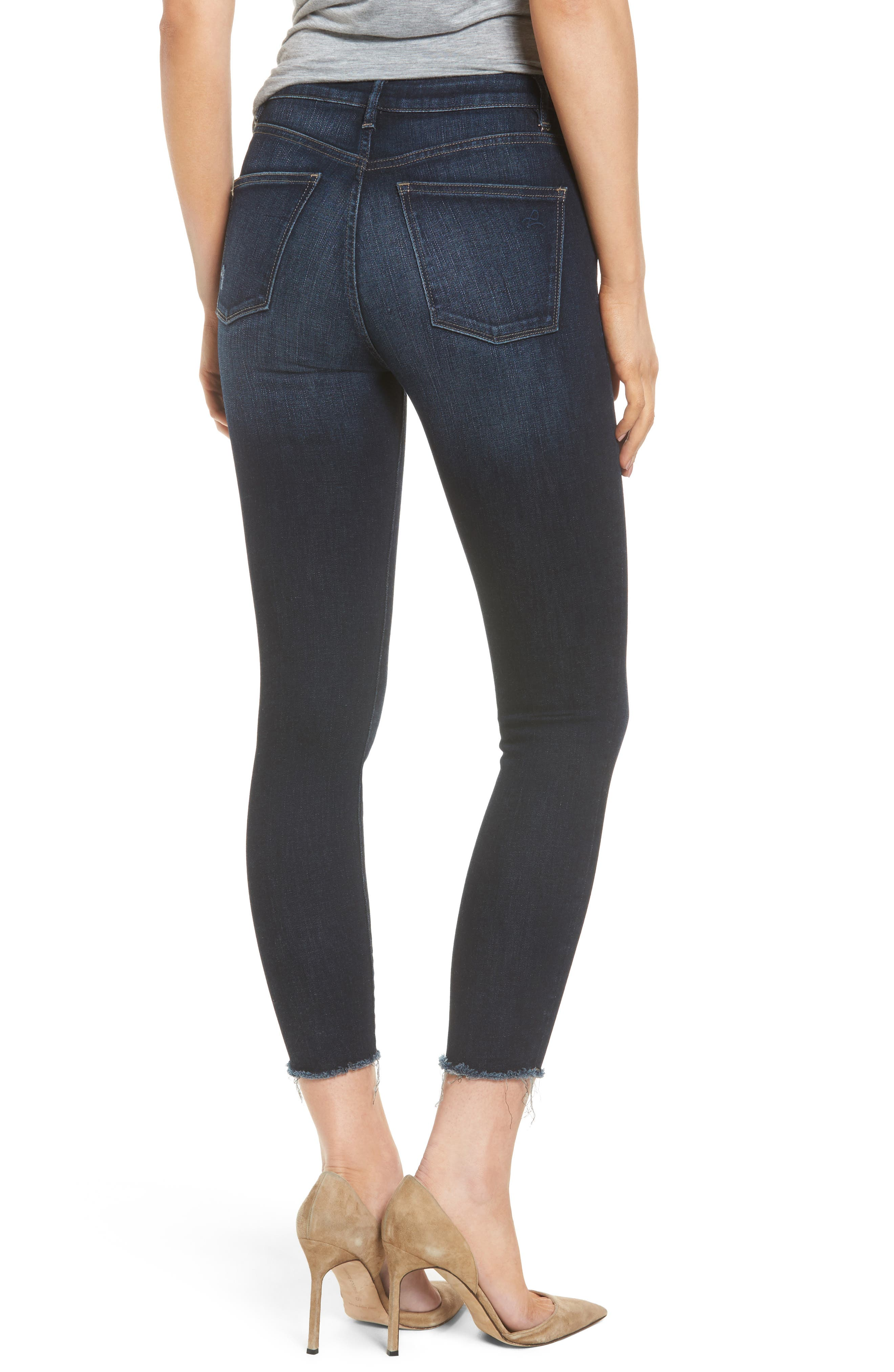 Chrissy High Waist Crop Skinny Jeans,                             Alternate thumbnail 2, color,                             Trinity