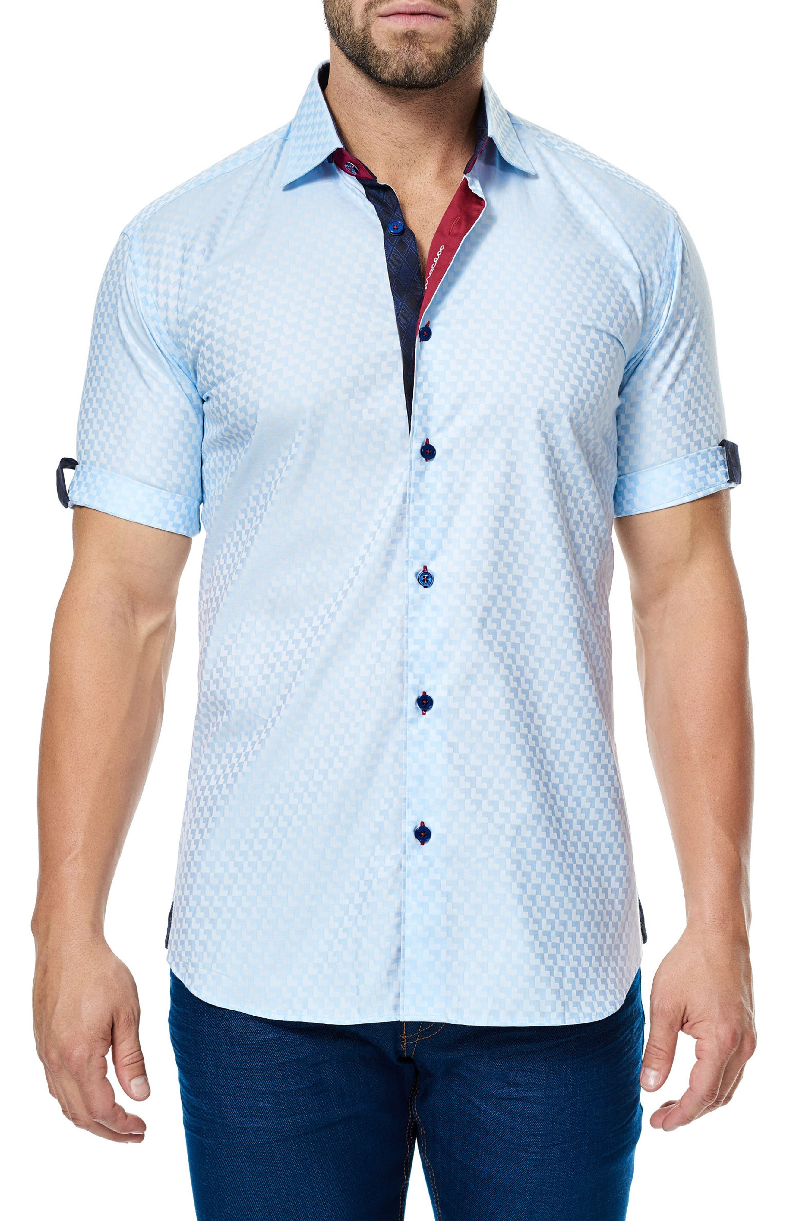 Alternate Image 1 Selected - Maceoo Fresh Jacquard Sport Shirt