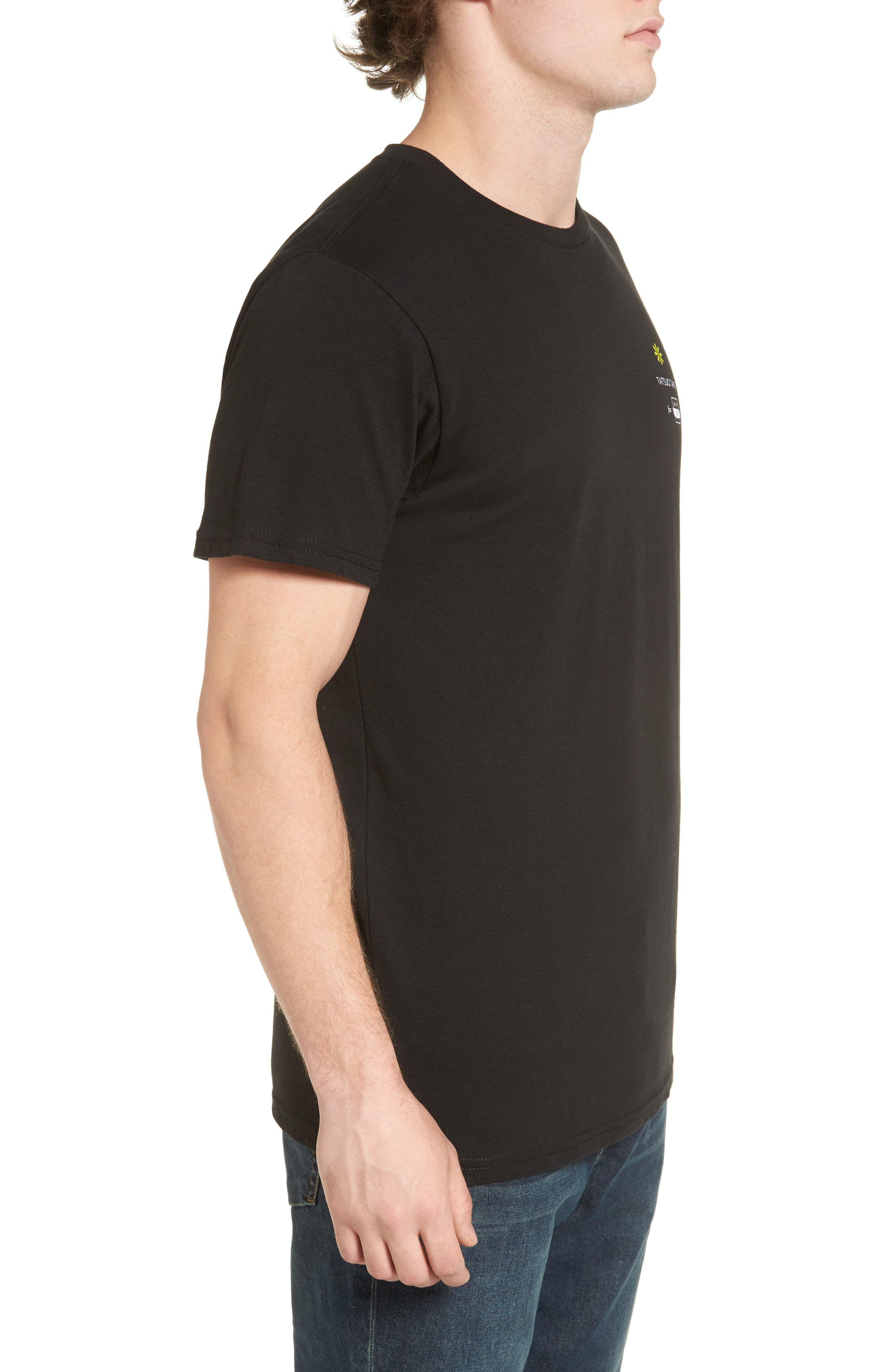 Offshore T-Shirt,                             Alternate thumbnail 3, color,                             Black