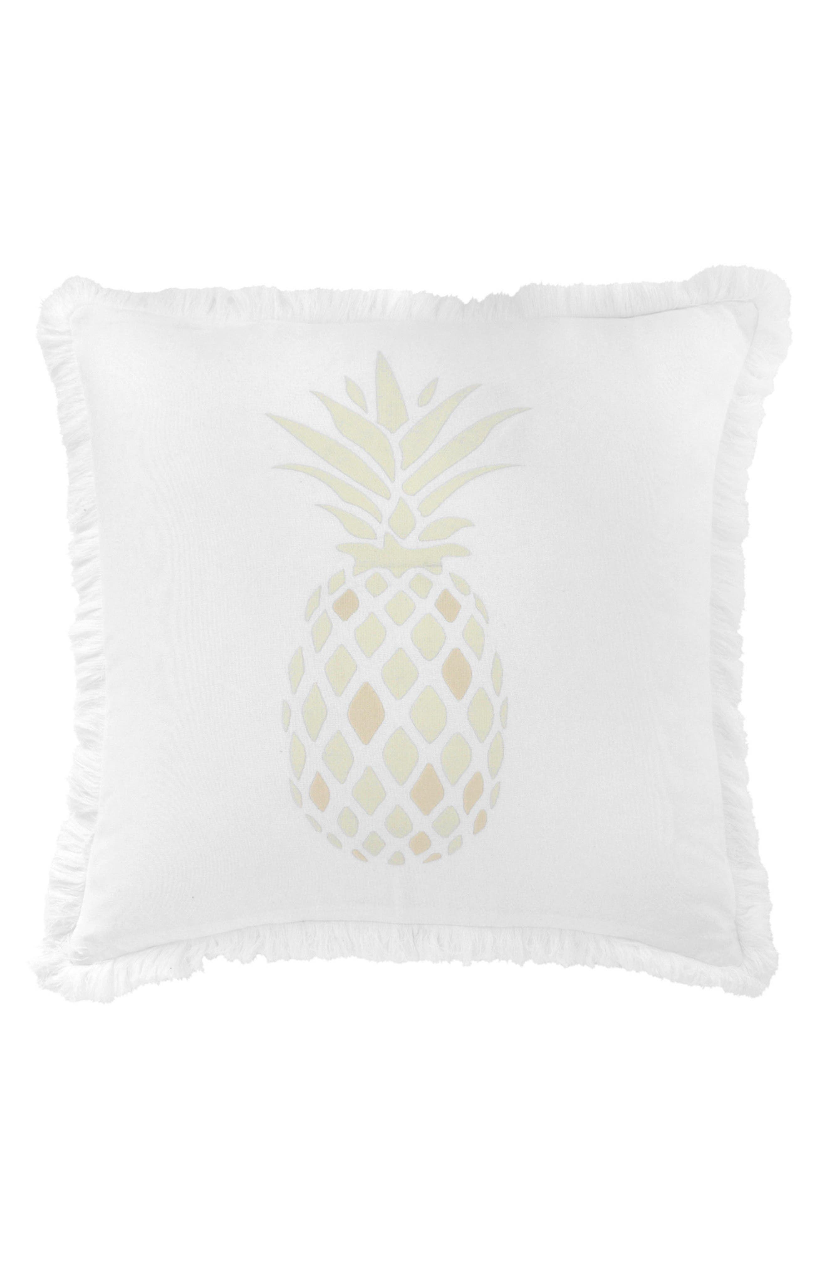 Southern Hospitality Pineapple Accent Pillow,                         Main,                         color, White