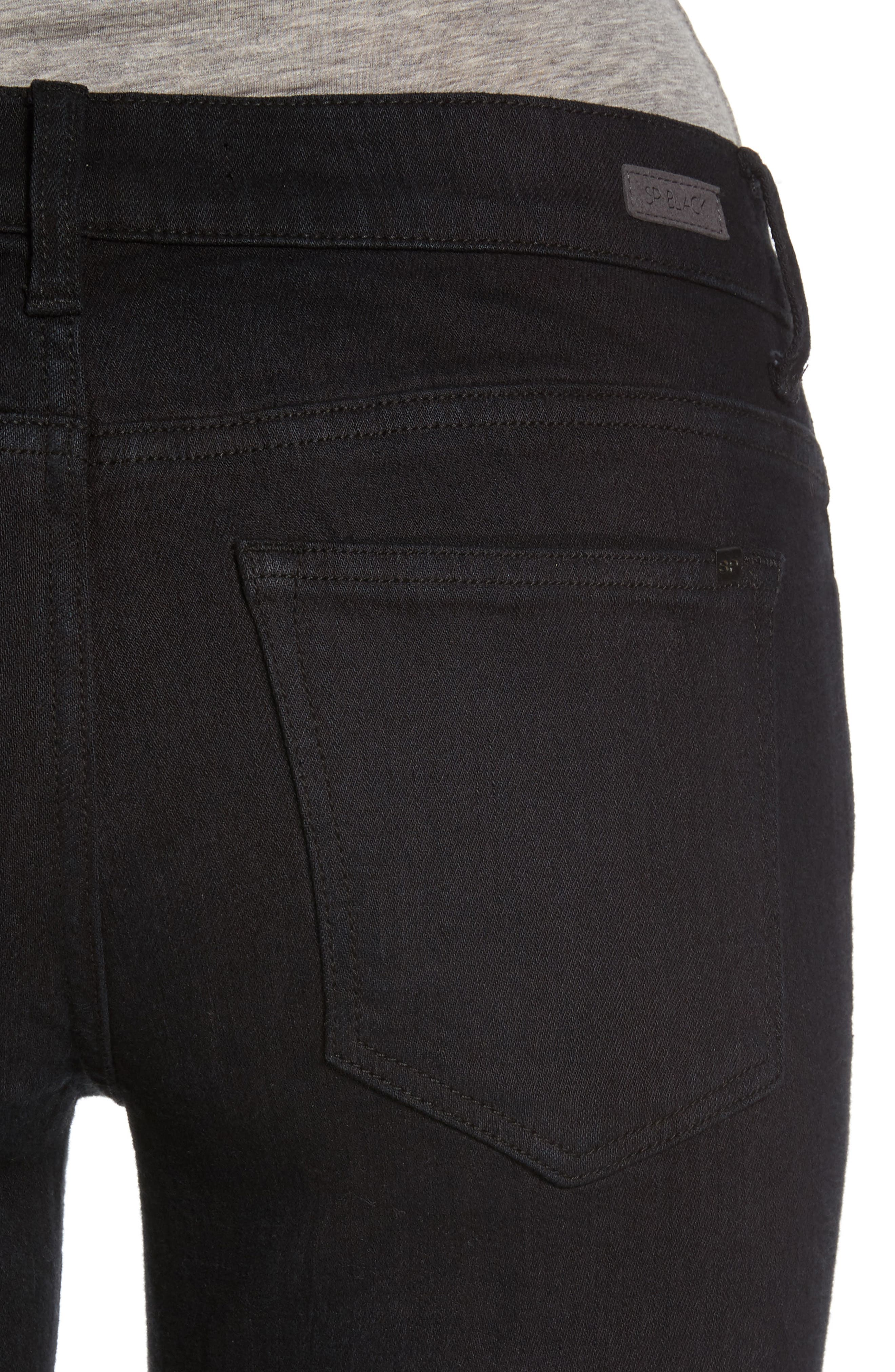 Alternate Image 4  - SP Black Destroyed Boyfriend Jeans